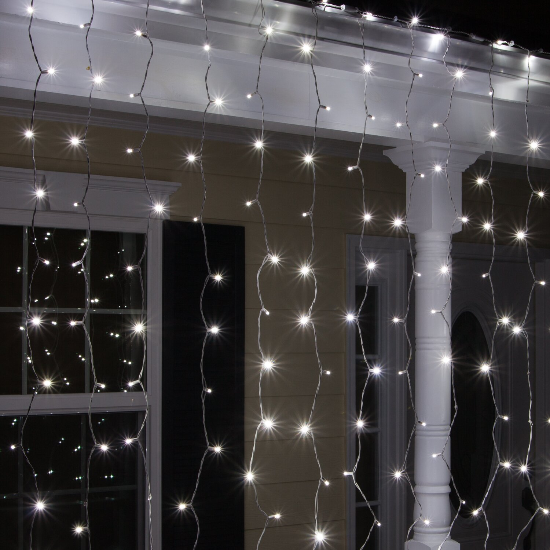 Wintergreen Lighting 150 Cool White 5mm LED Icicle Light Set. Wintergreen Lighting 150 Cool White 5mm LED Icicle Light Set