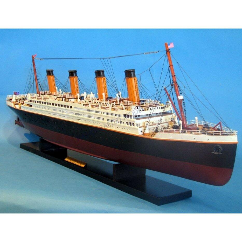 "Titanic 2: Handcrafted Nautical Decor 40"" RMS Titanic Model Ship"
