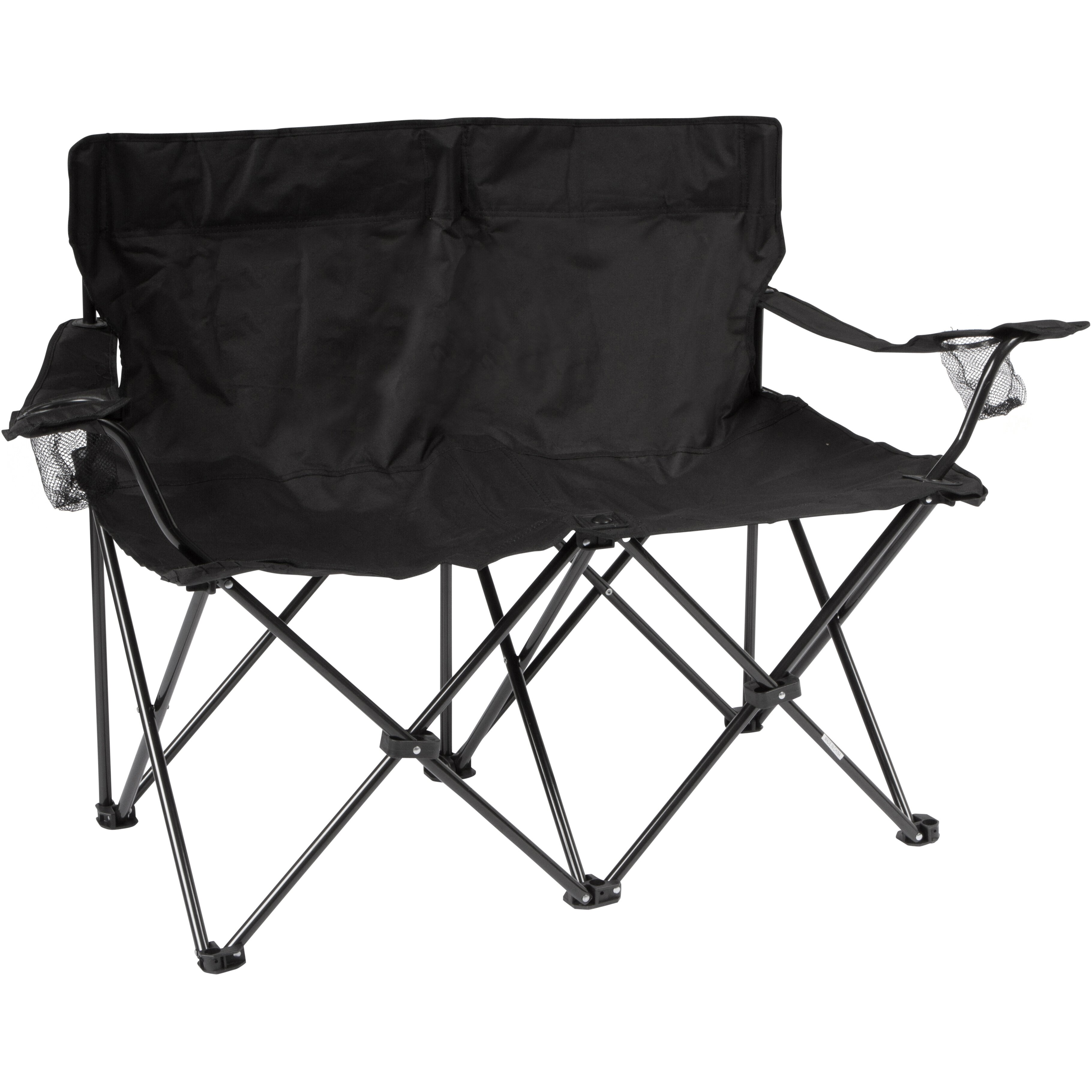 Trademark Innovations Loveseat Style Double Camp Chair With Steel Frame Reviews Wayfair