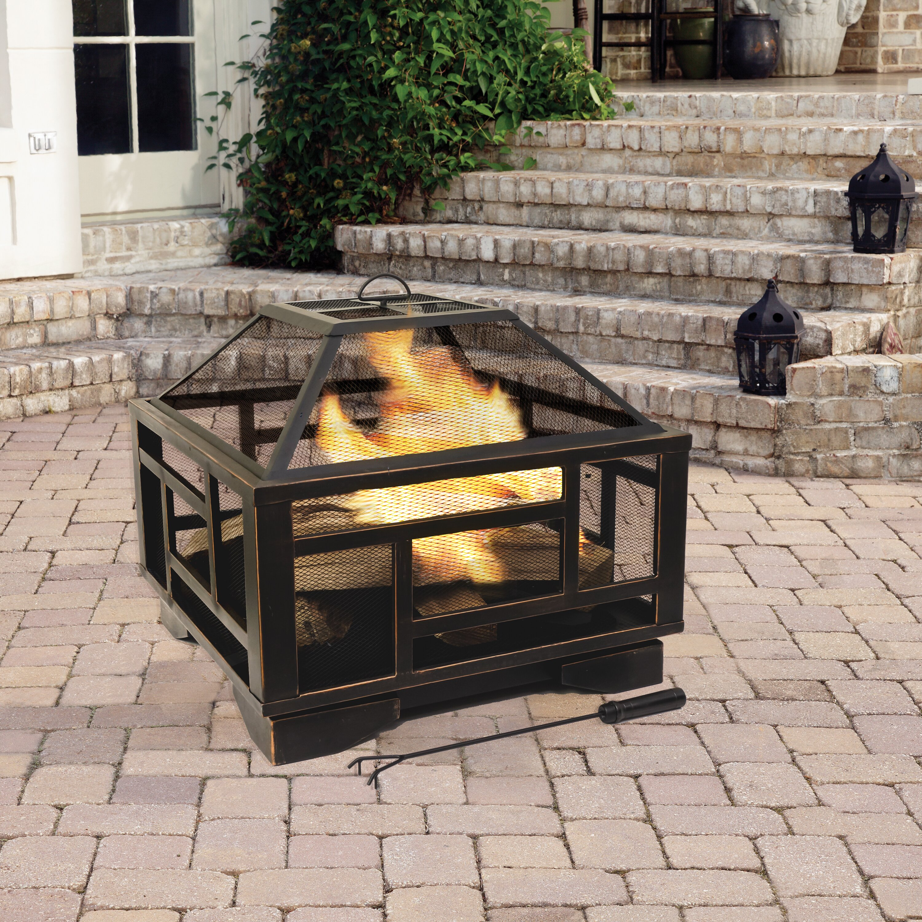 Pleasant Hearth Solus Deep Wood Burning Fire Pit & Reviews ...