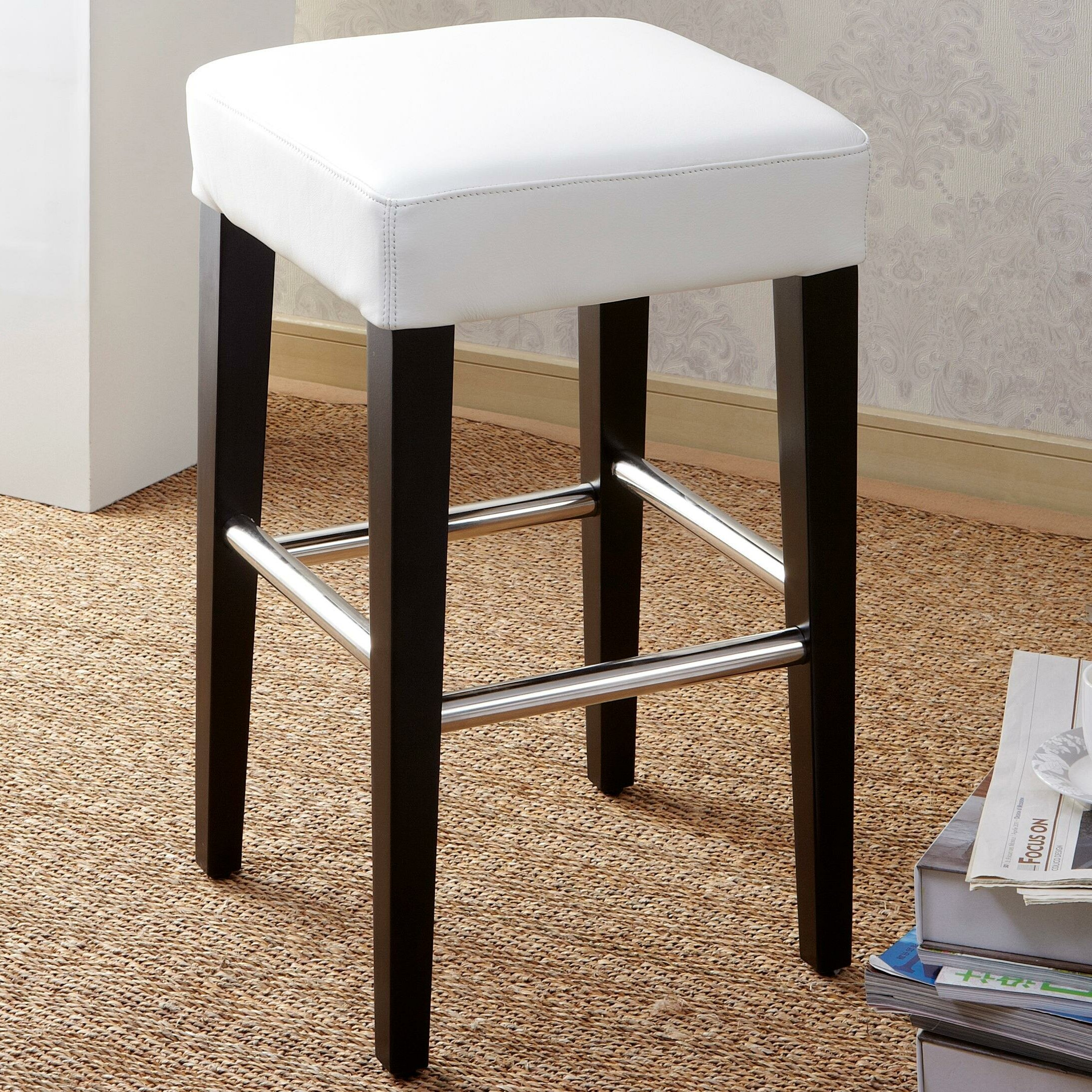 image quarter bamboo bathroom stool cortesi home ampquot  cortesi home  bar stool cortesi home ampquot