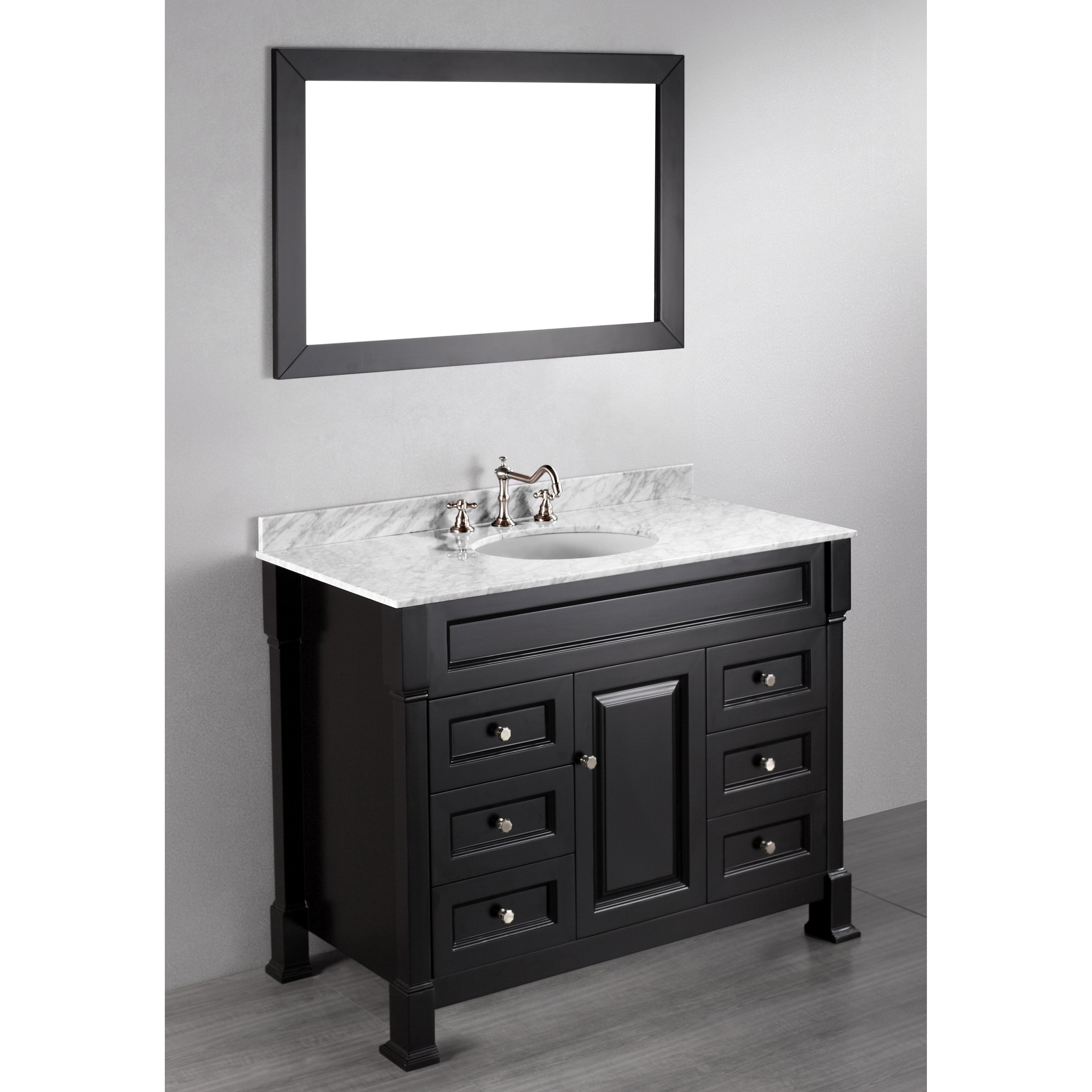 Bosconi contemporary 43 single bathroom vanity set with mirror reviews wayfair - Kona modern bathroom vanity set ...