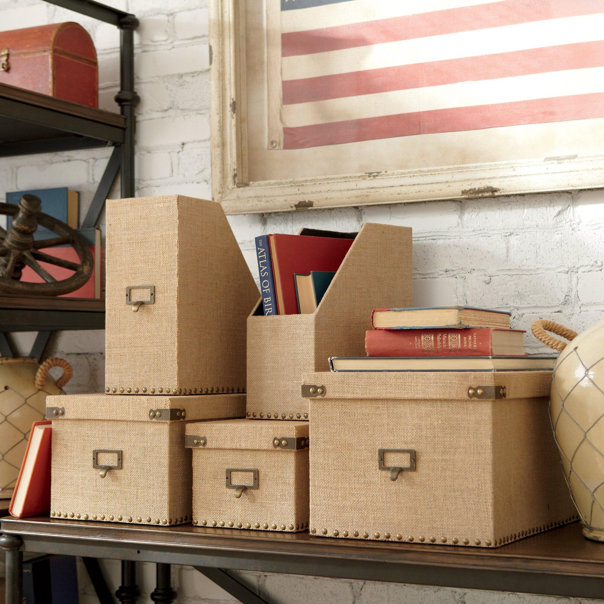 Birch lane 3 piece ravenna storage boxes reviews wayfair - Idea casa ravenna ...