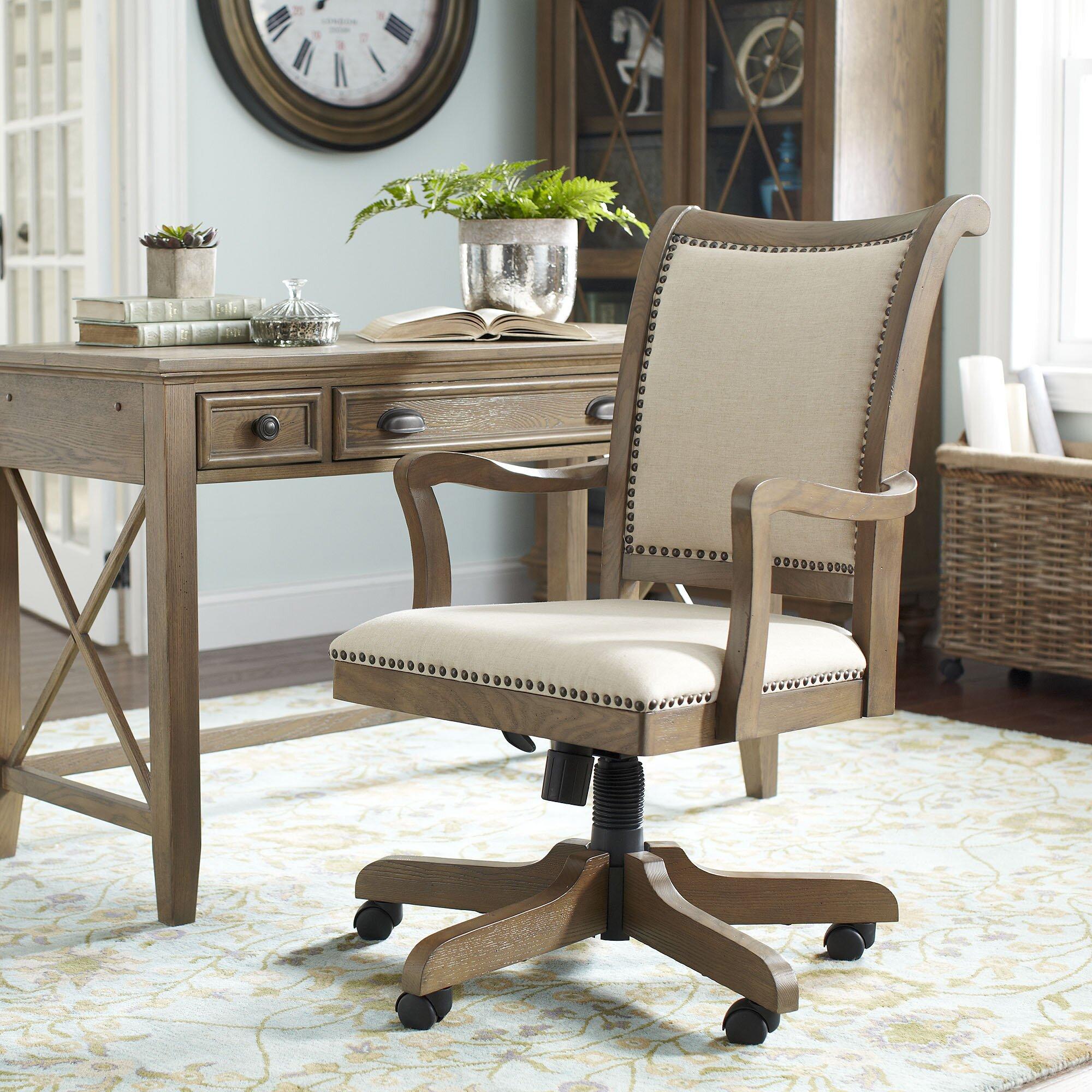 Birch lane wetherly swivel desk chair reviews birch lane for Chair with swivel desk