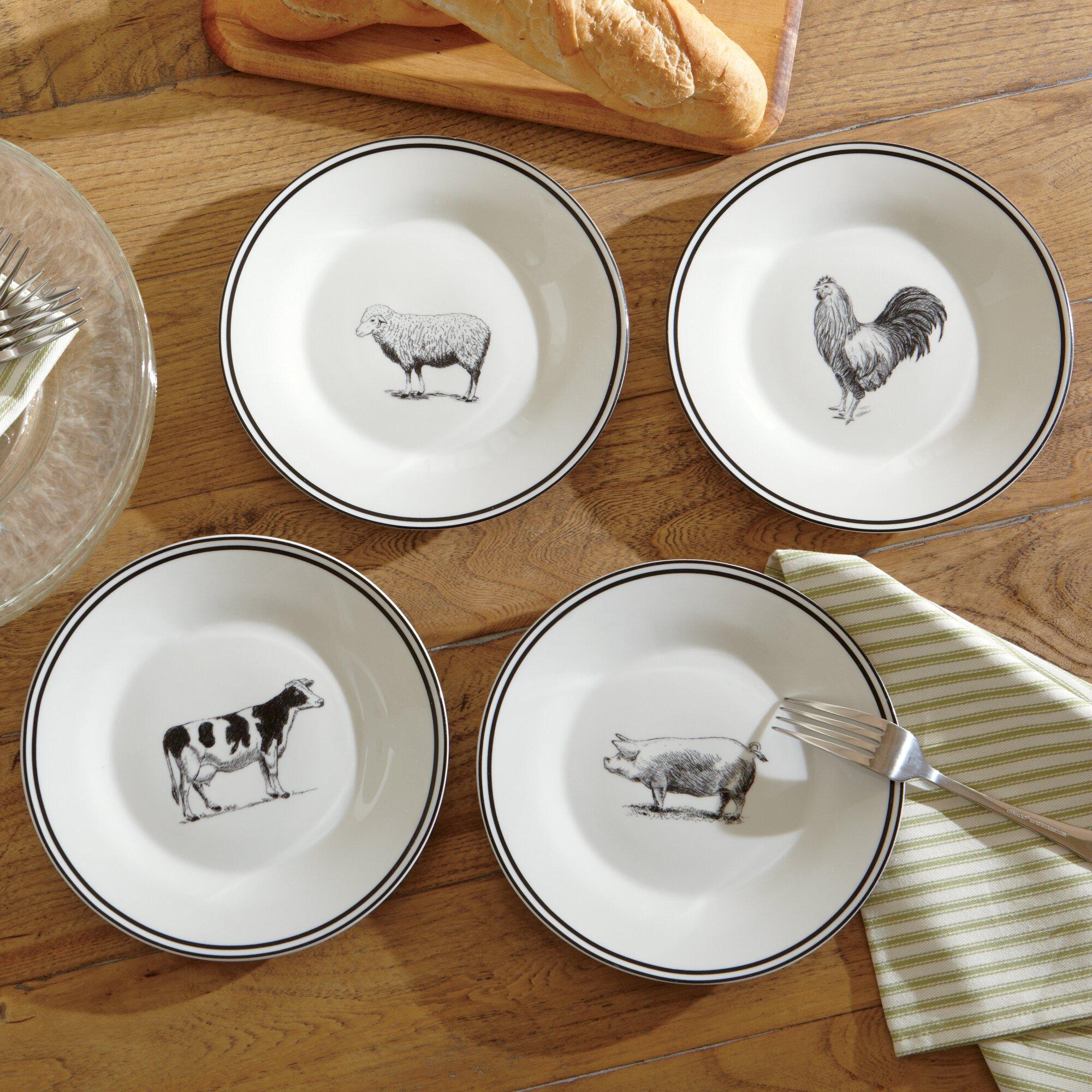 Kitchen Cabinets Set Birch Lane Farm Animals Ceramic Dessert Plates Amp Reviews