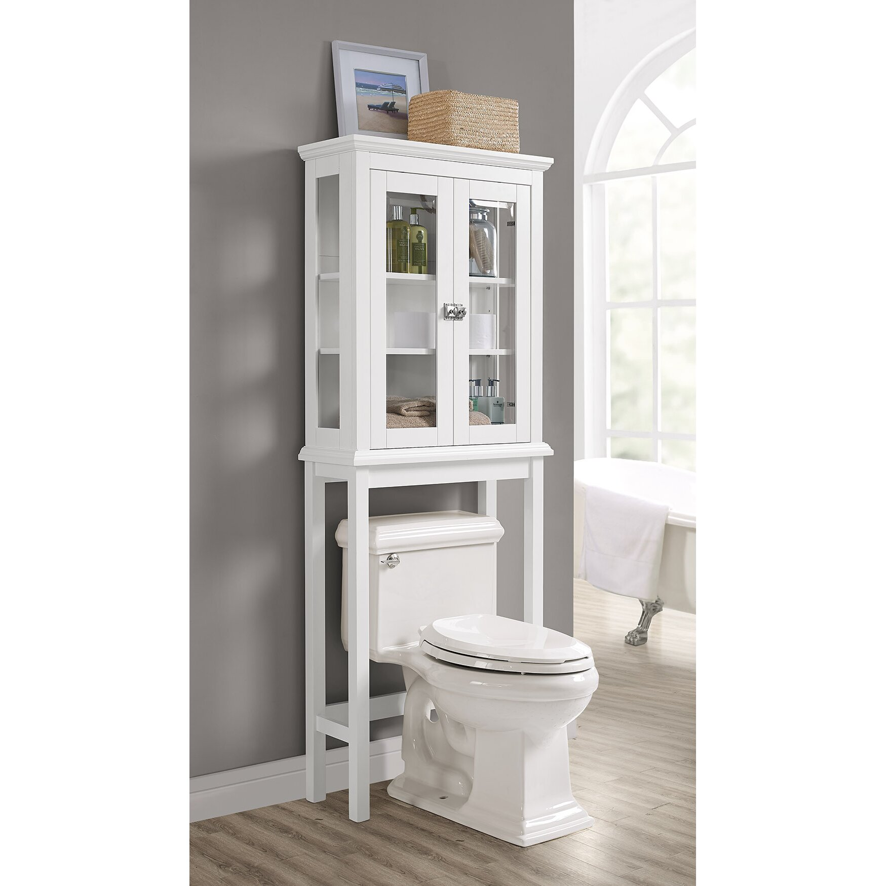 over the toilet storage cabinets | bathroom etagere you'll love