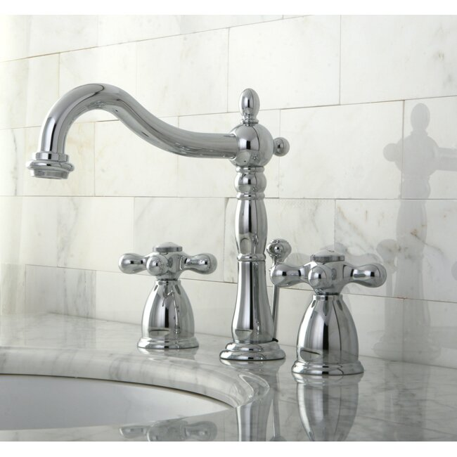 Kingston Brass Heritage Double Handle Widespread Bathroom Faucet with Pop Up Drain. Kingston Brass Heritage Double Handle Widespread Bathroom Faucet
