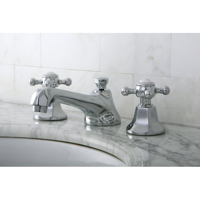 Widespread Bathroom Faucet Clearance : Kingston Brass Metropolitan Double Handle Widespread Bathroom Faucet ...