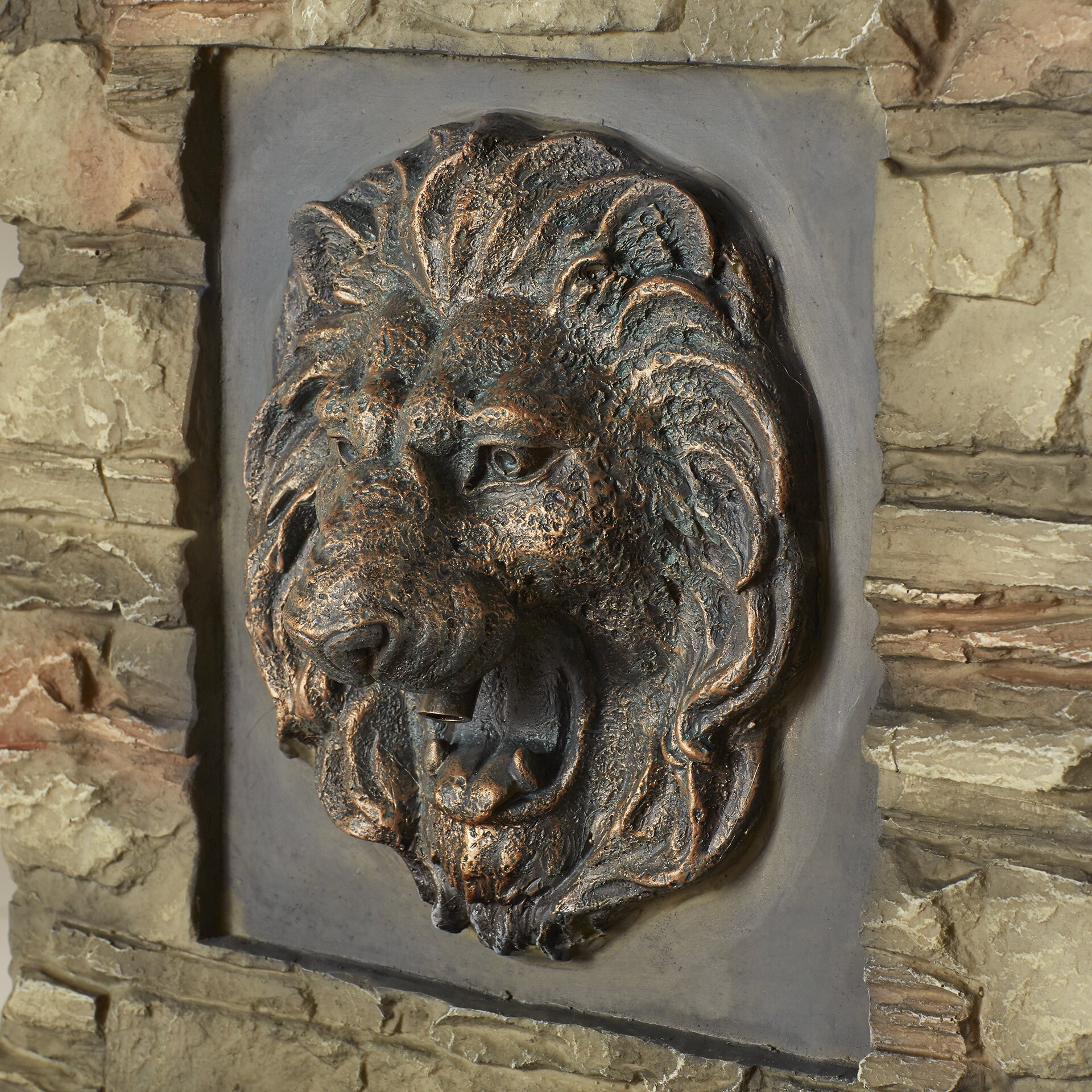 Jeco inc lion head outdoor indoor water fountain reviews wayfair - Decorative water spouts ...