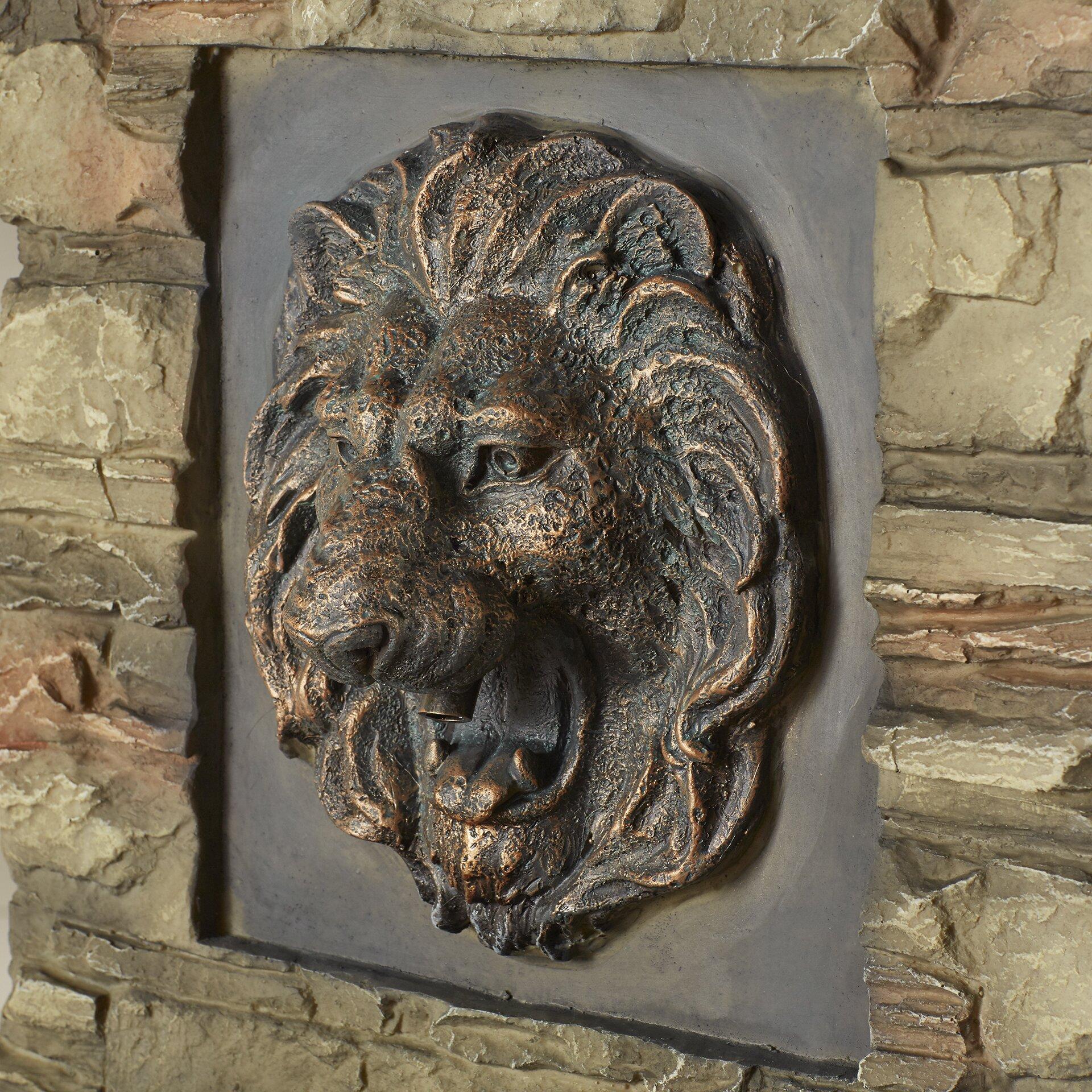 Jeco inc lion head outdoor indoor water fountain reviews wayfair - Decorative water spouts ...