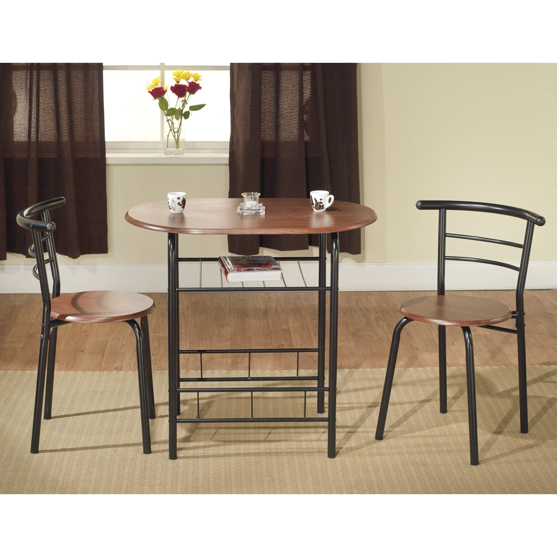Dining Table In Kitchen Tms Bistro 3 Piece Compact Dining Set Reviews Wayfair