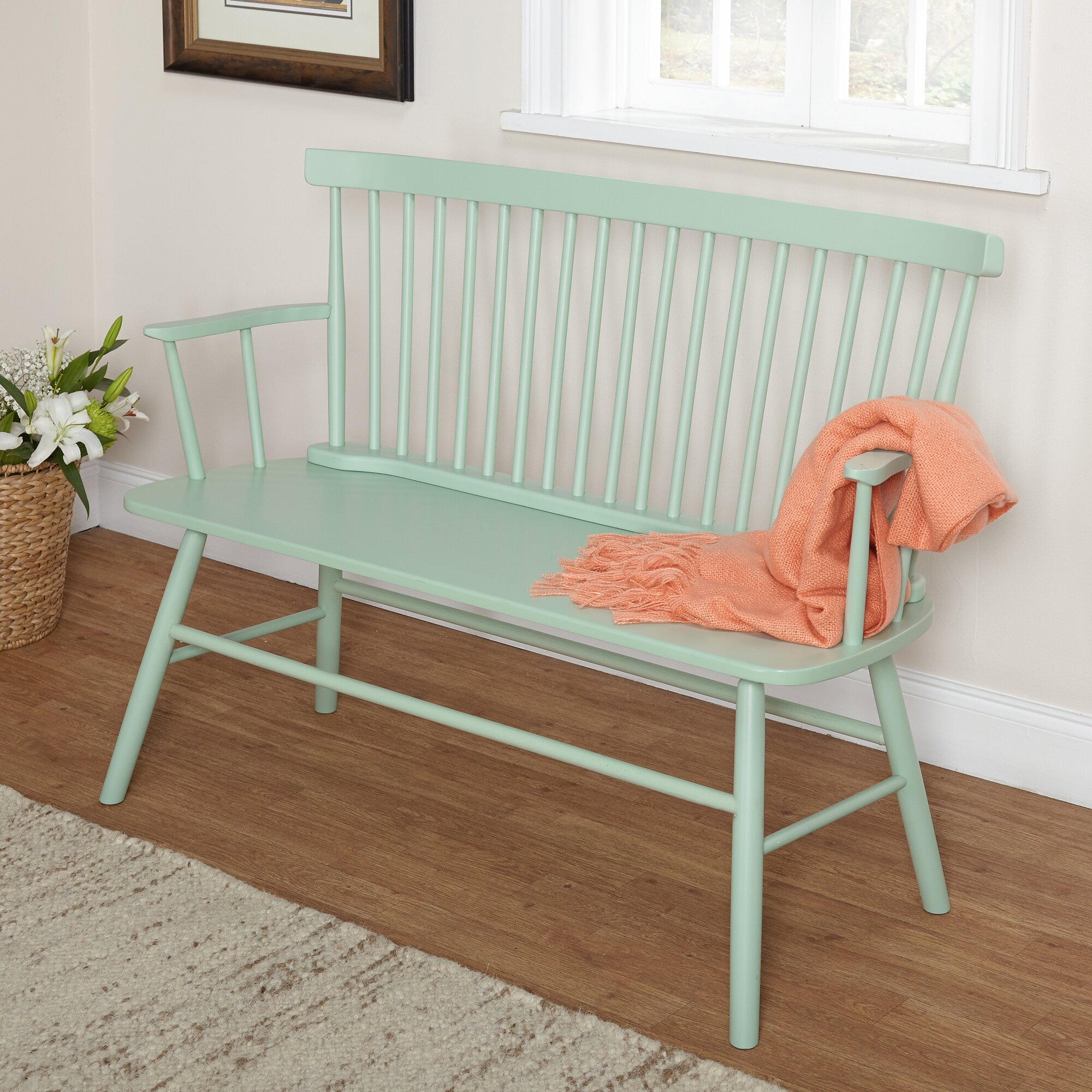 Tms Shelby Rubber Wood Bedroom Bench Amp Reviews Wayfair