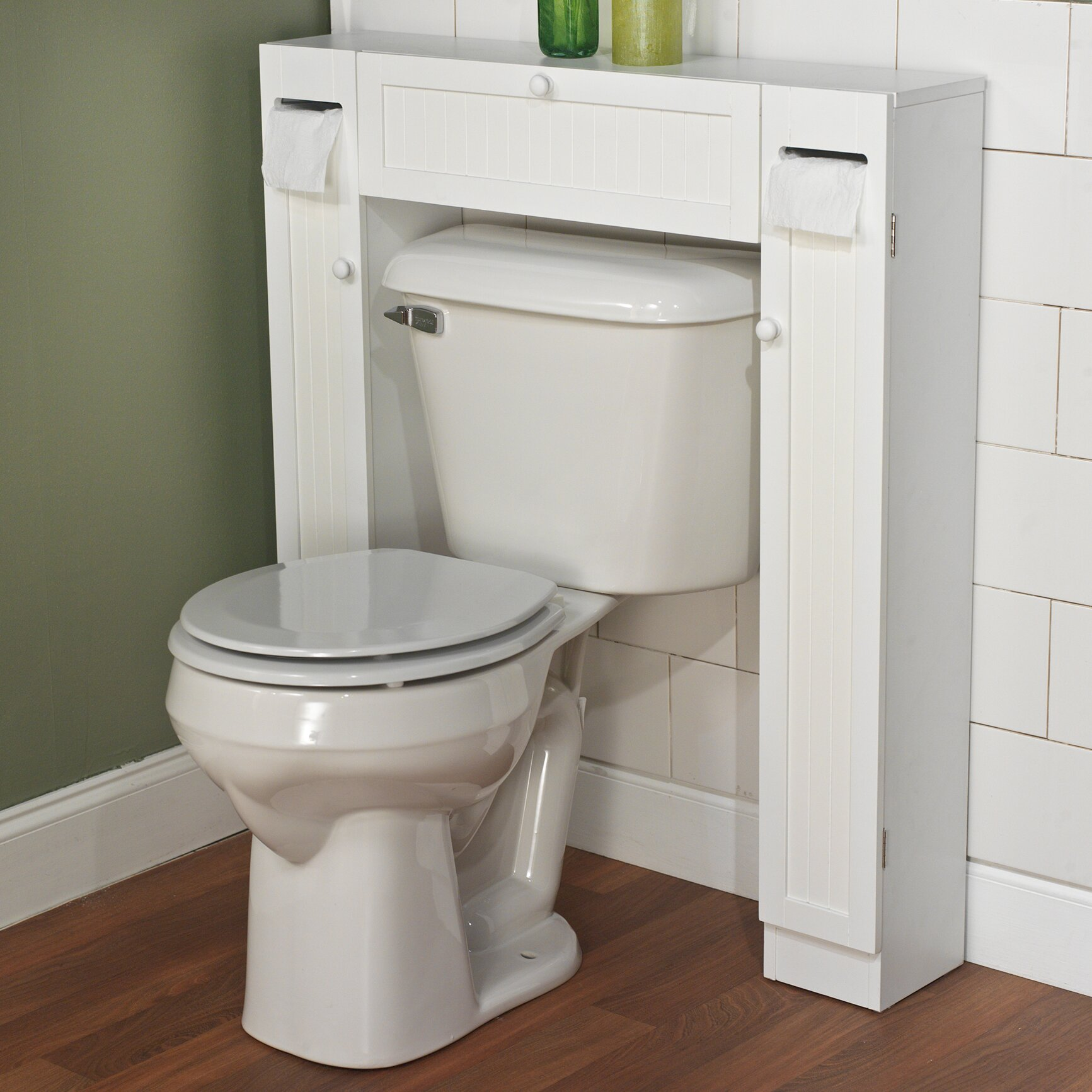 Above the toilet cabinets - Free Standing 34 W X 38 5 H Over The Toilet Storage