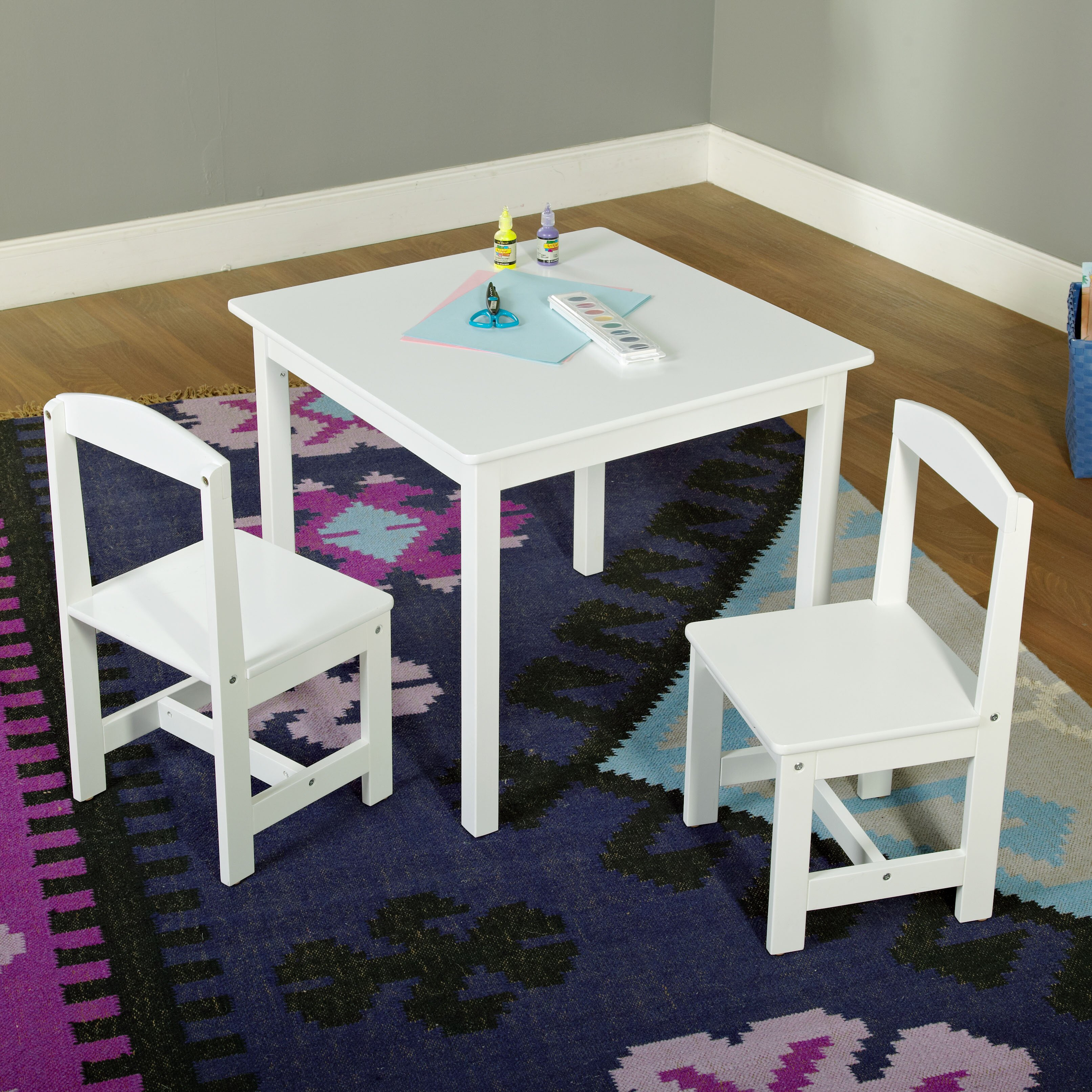Table Set For Kids Tms Hayden Kids 3 Piece Square Table And Chair Set Reviews Wayfair