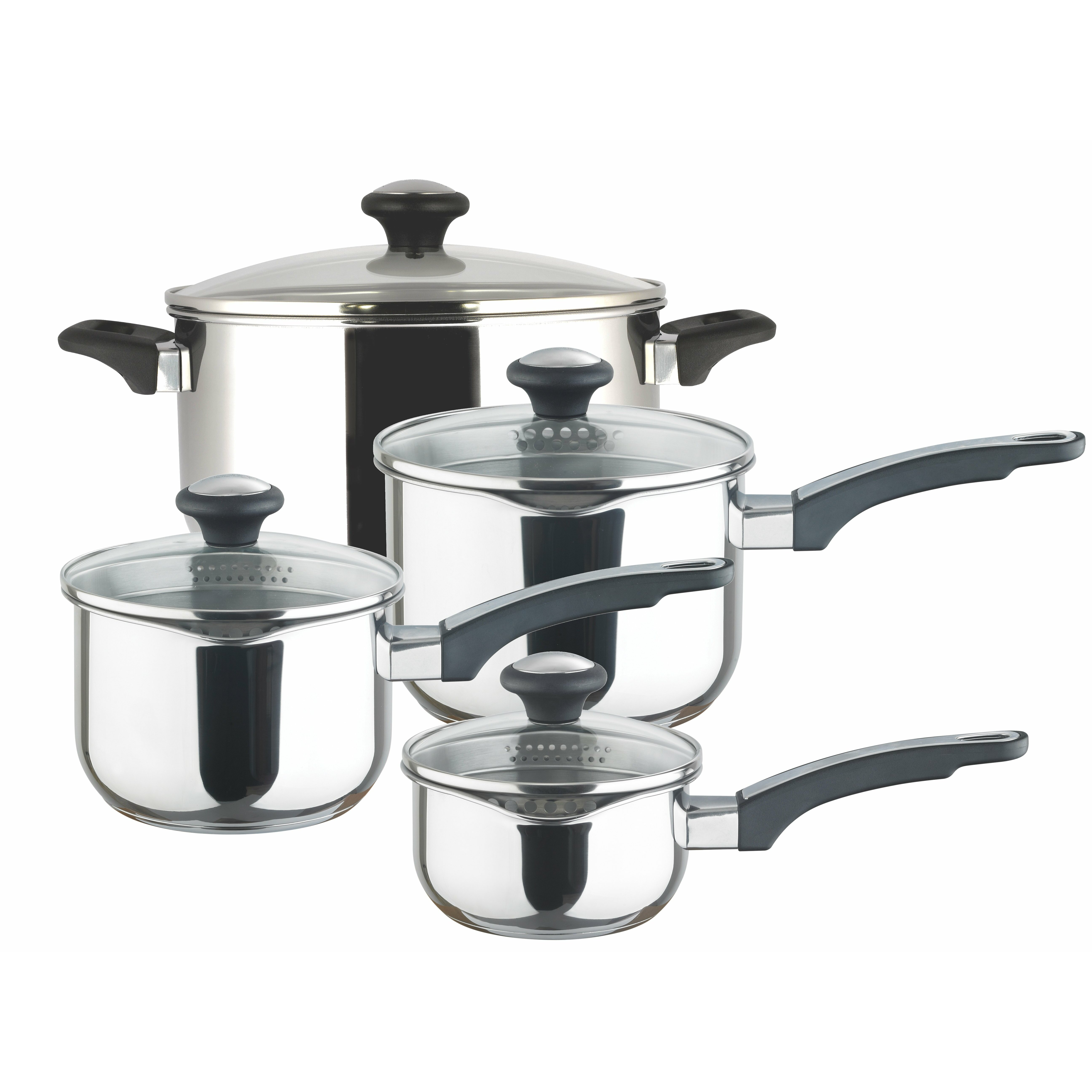 Prestige Kitchen Appliances Prestige Prestige 4 Piece Stainless Steel Cookware Set Reviews