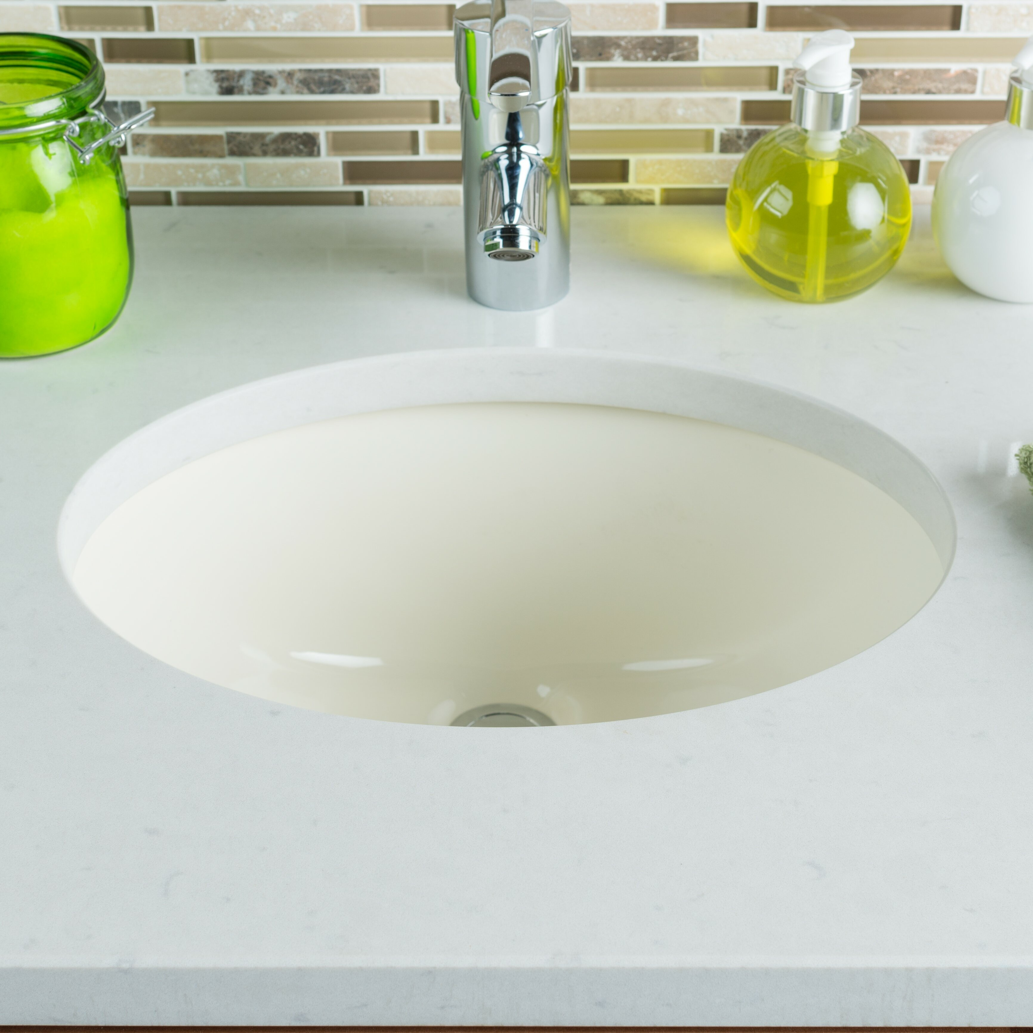 Bathroom Sink Material Hahn Ceramic Bowl Oval Undermount Bathroom Sink With Overflow