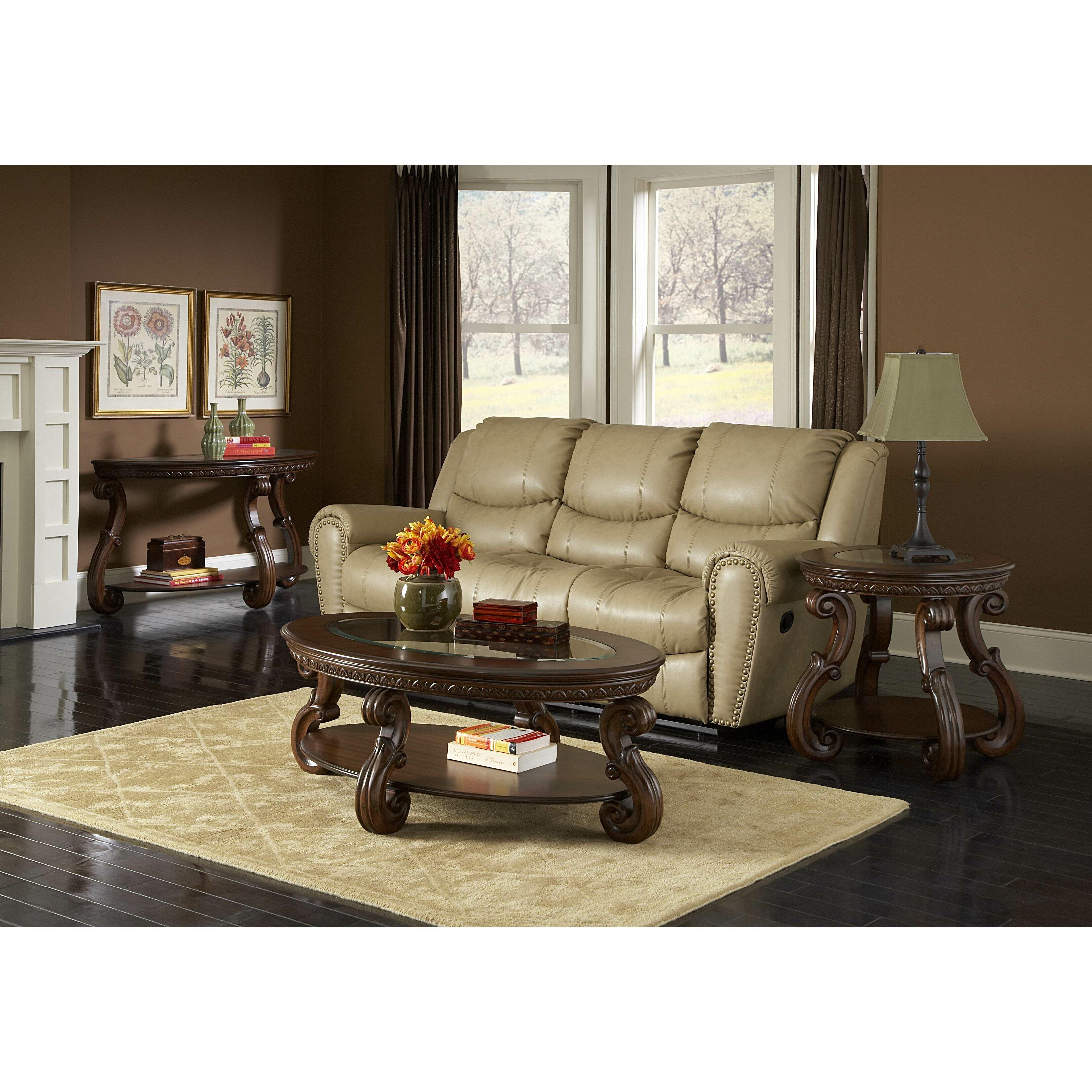 Woodhaven Living Room Furniture Woodhaven Hill 5556 Series Coffee Table Set Reviews Wayfair