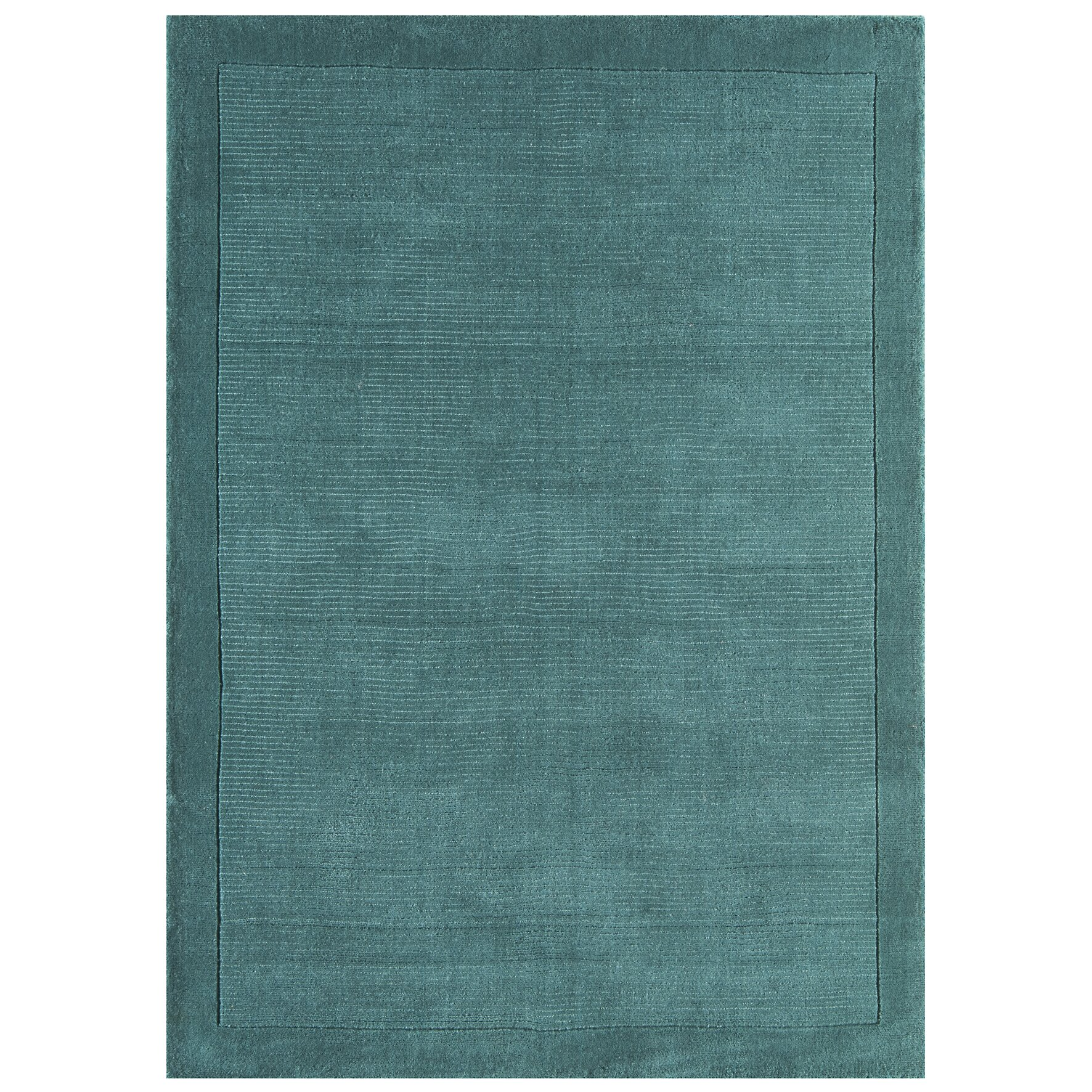 Teal Woven Rag Rug: Asiatic Carpets Ltd. York Hand-Woven Teal Area Rug