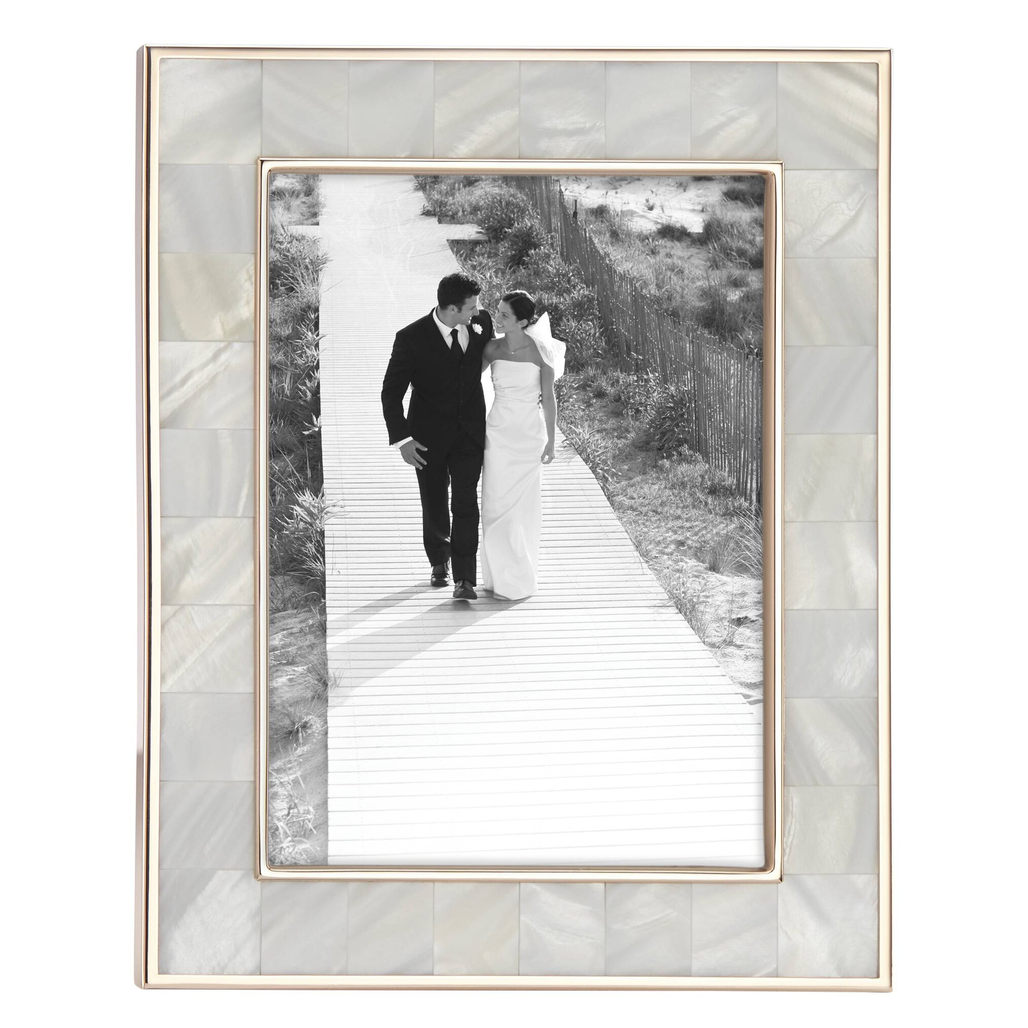 reed barton mother of pearl rose gold picture frame