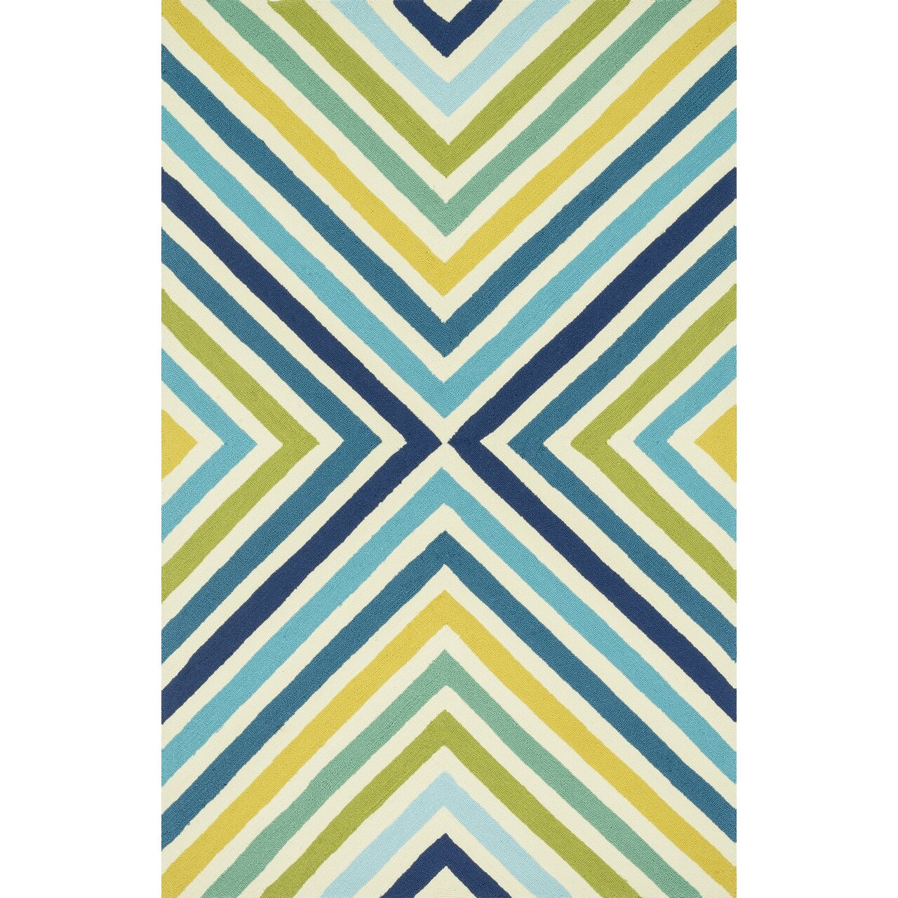 Dann Foley Palm Springs Hand-Hooked Blue/Yellow Indoor/Outdoor Area Rug u0026 Reviews : Wayfair.ca