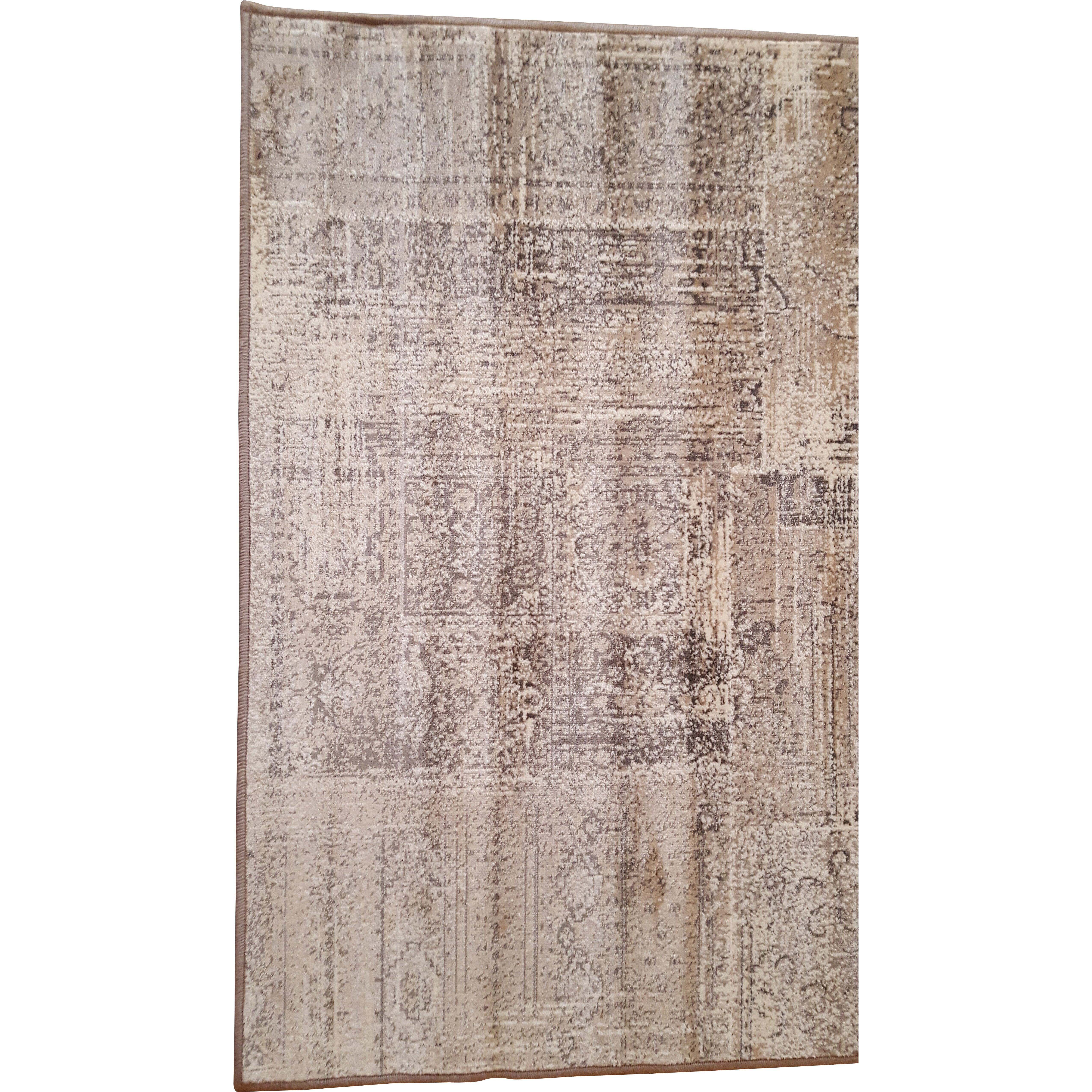 Barefoot artsilk rugs patchwork warm beige area rug for Warm rugs