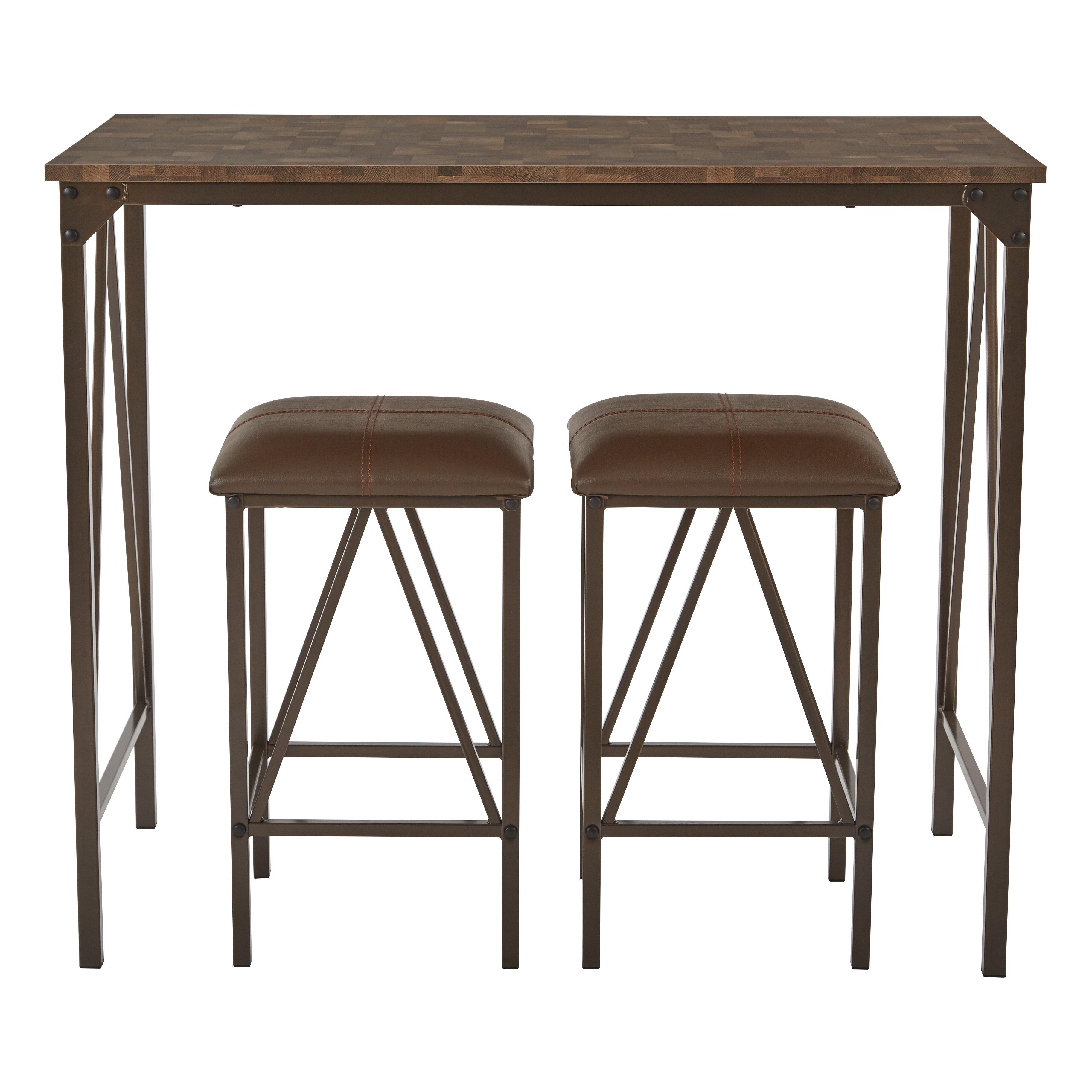 osp designs catalina  piece dining set: three piece dining set