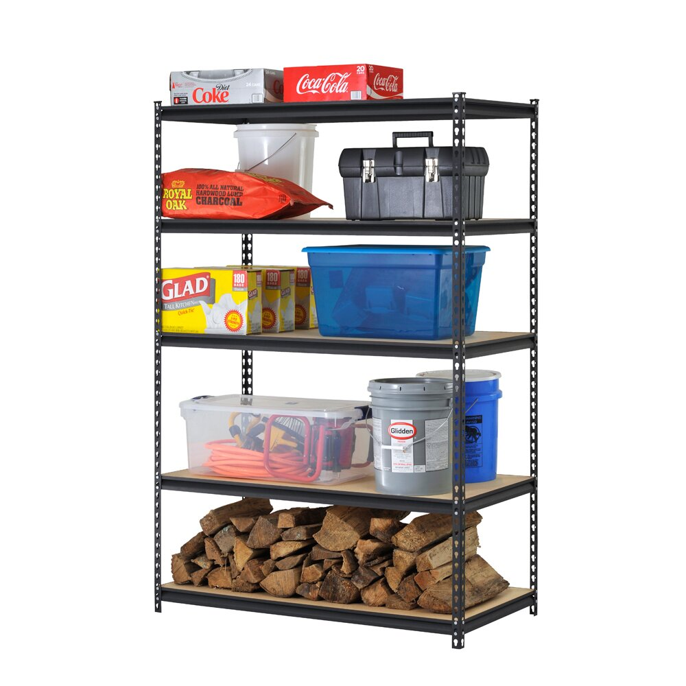 Edsal 5 shelf heavy duty steel shelving - Edsal Sandusky 72 Quot H Steel Five Shelf Heavy Duty Shelving Unit