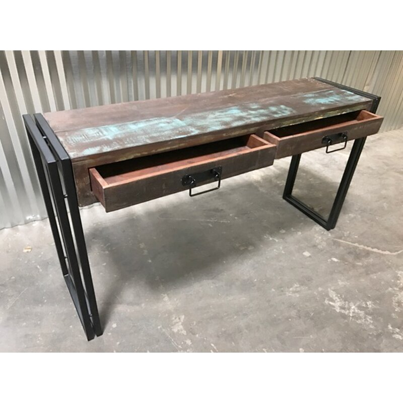 Coffee Table Timbergirl Old Reclaimed Wood Console Table With Metal Legs