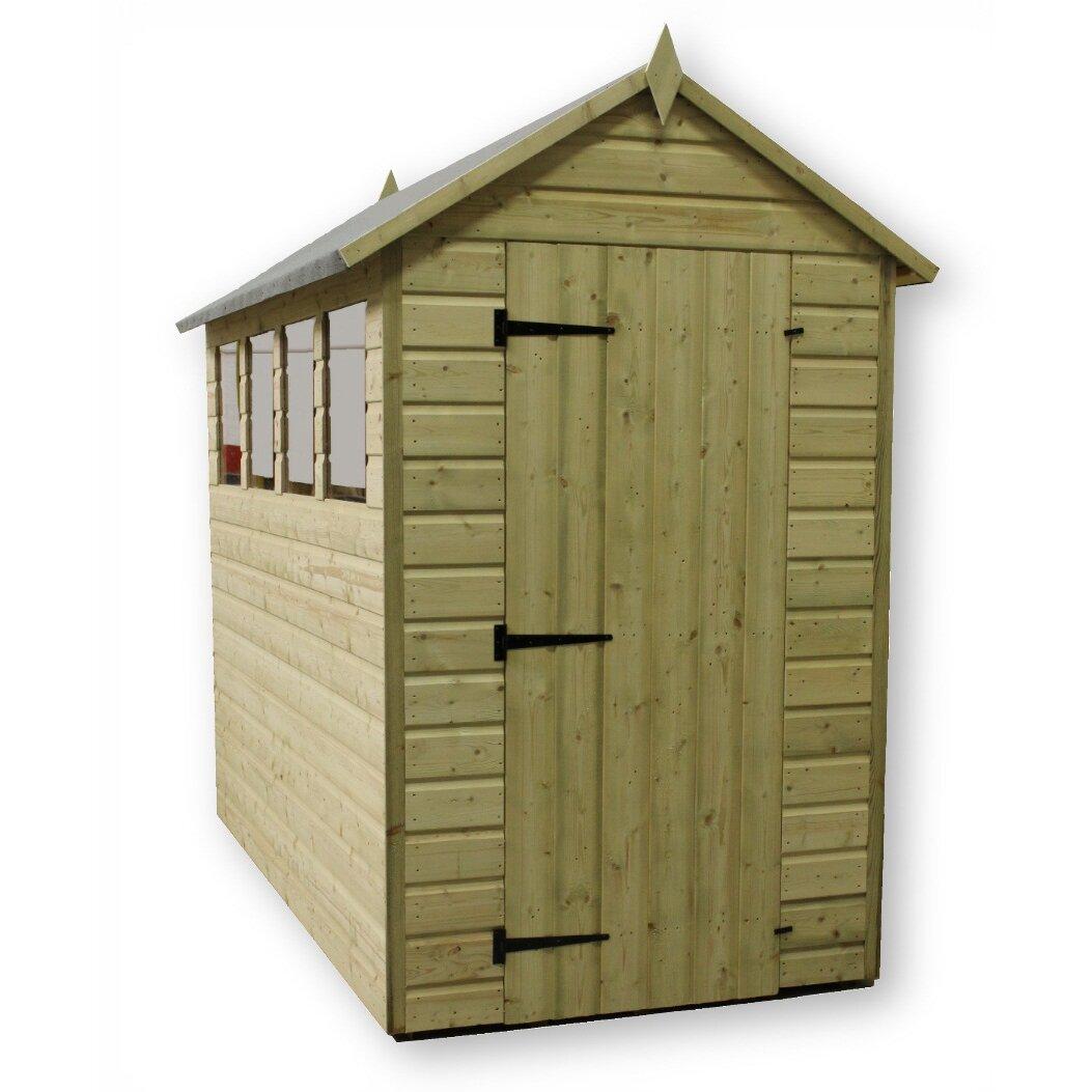 empire sheds ltd 4 x 10 wooden storage shed. Black Bedroom Furniture Sets. Home Design Ideas