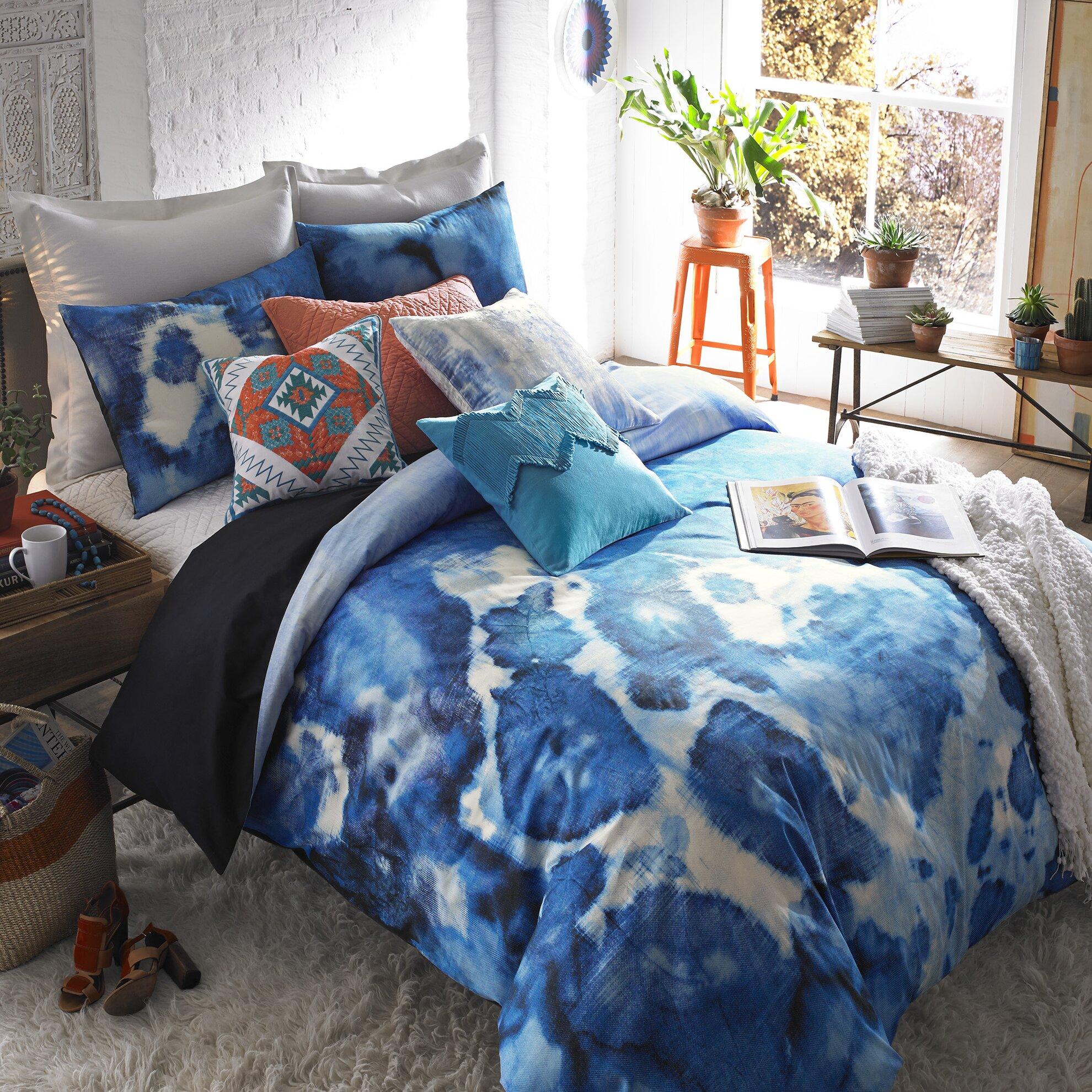 Blissliving home mexico city casa azul 3 piece duvet cover for Living room quilt cover