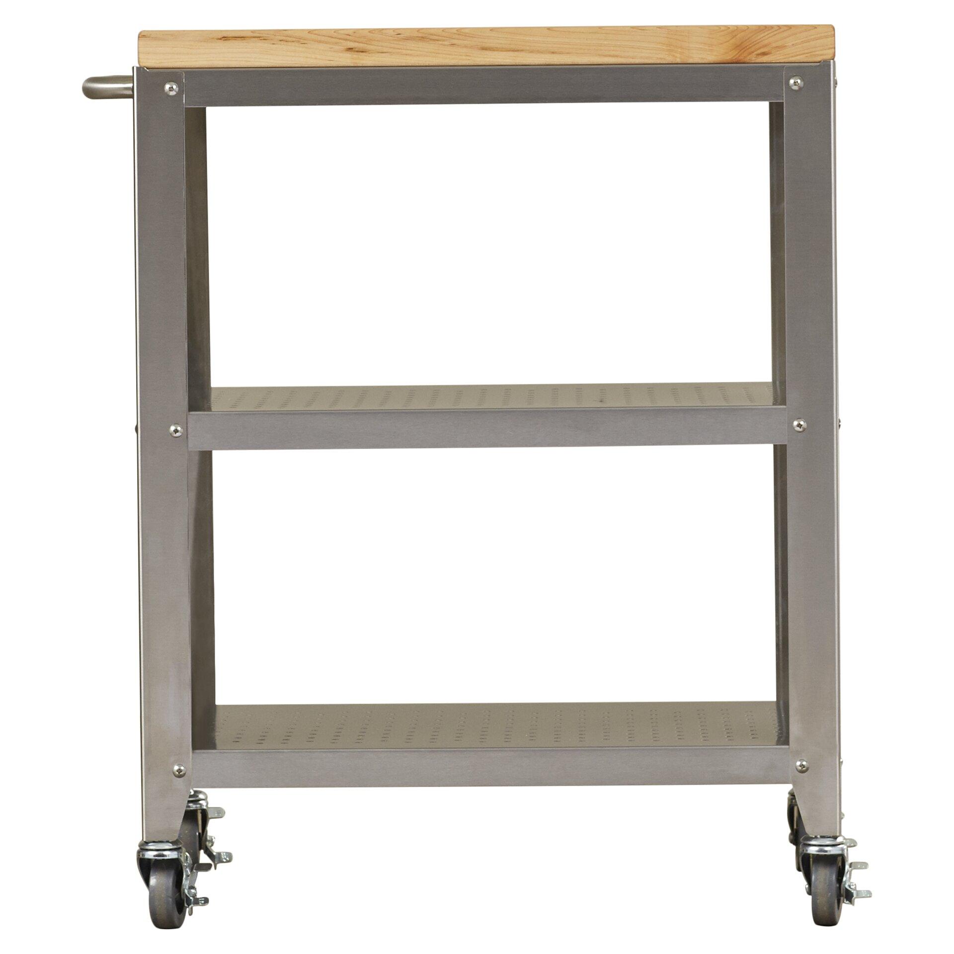Cucina Americana Kitchen Cart With Butcher Block Top