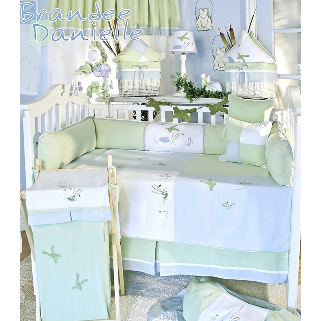 brandee danielle - brandee danielle one little froggie dust ruffle wayfair
