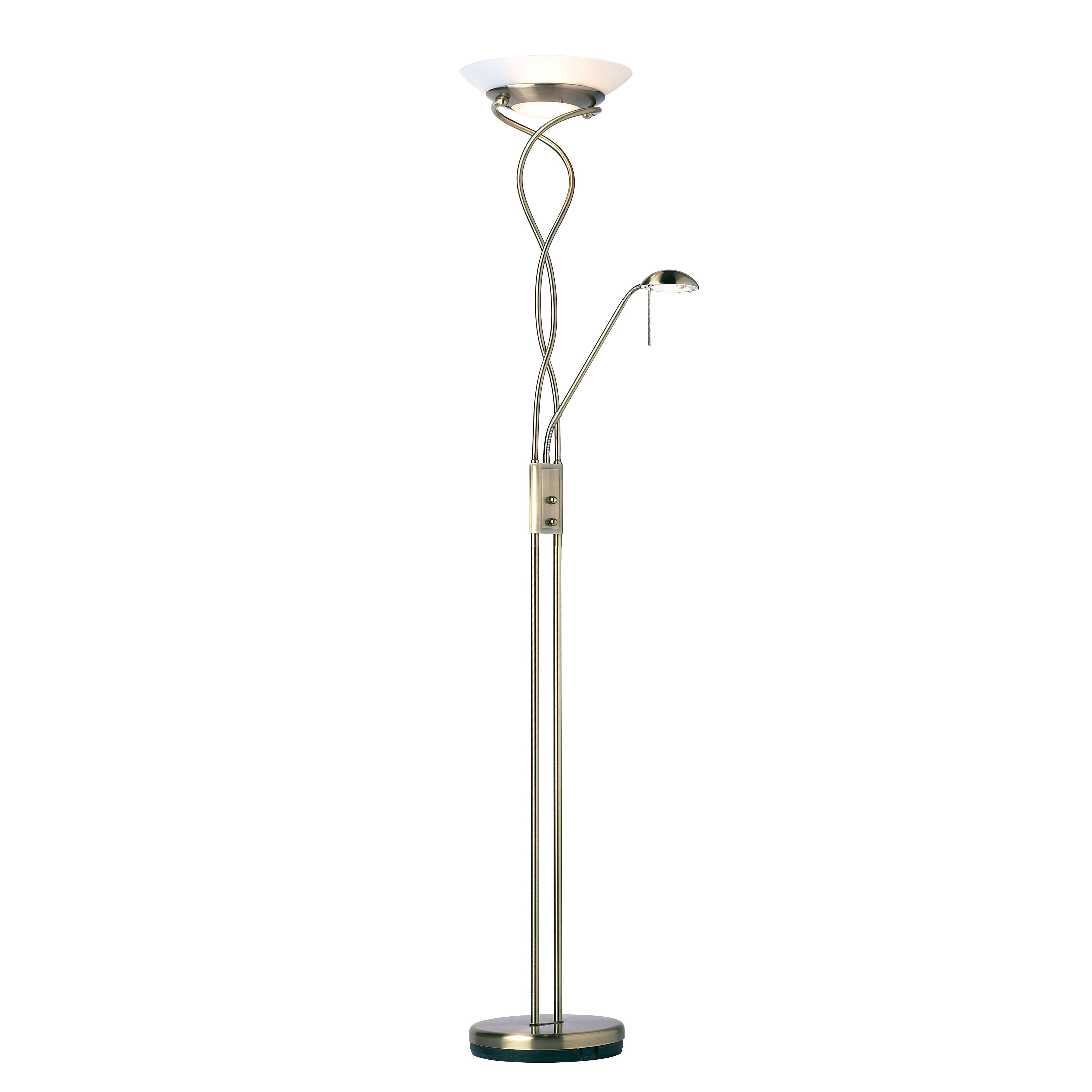 Uplighter Floor Lamps Uk: Endon Lighting Monaco 182cm Uplighter Floor Lamp,Lighting