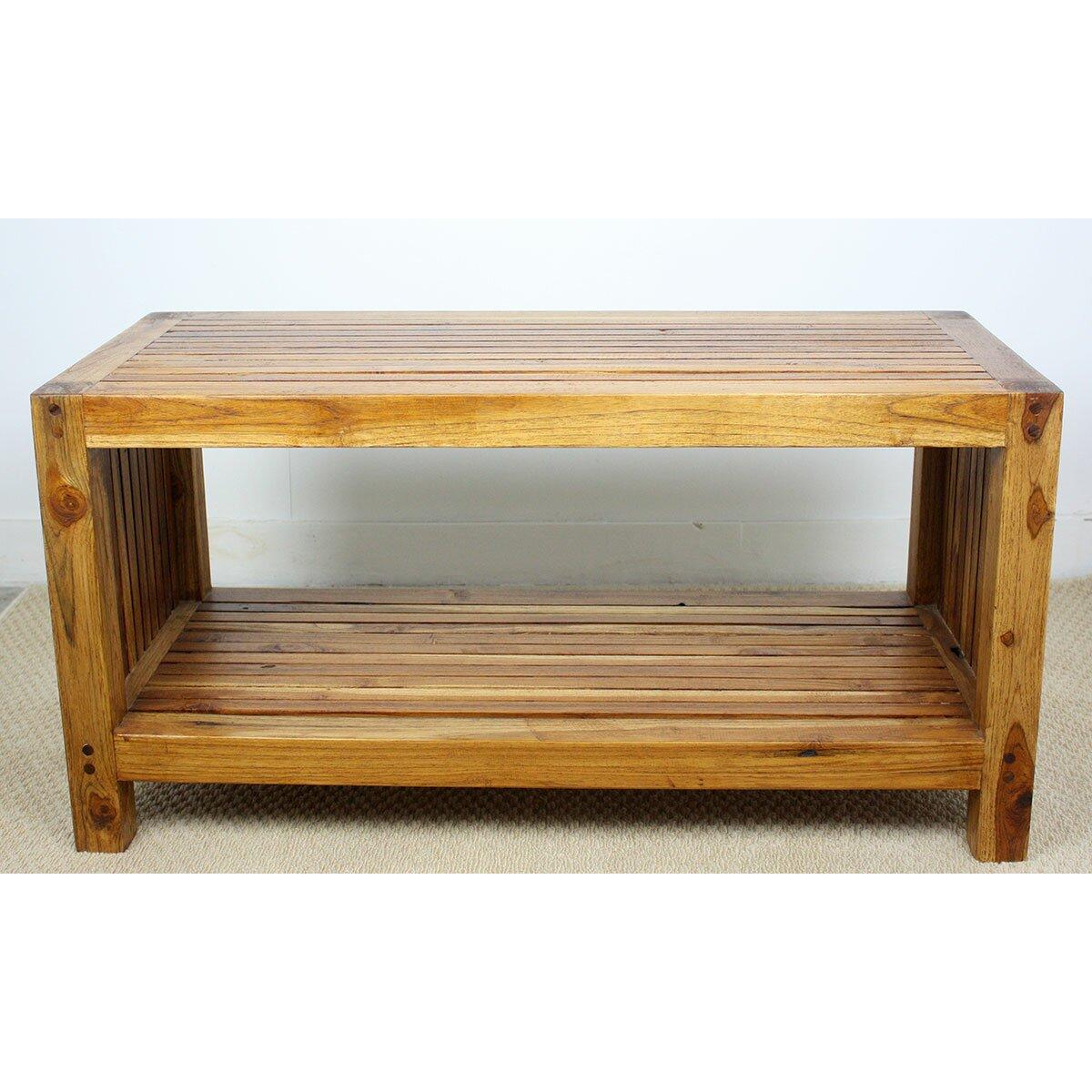 Slatted Coffee Table Strata Furniture Teak Slat Coffee Table Reviews Wayfair
