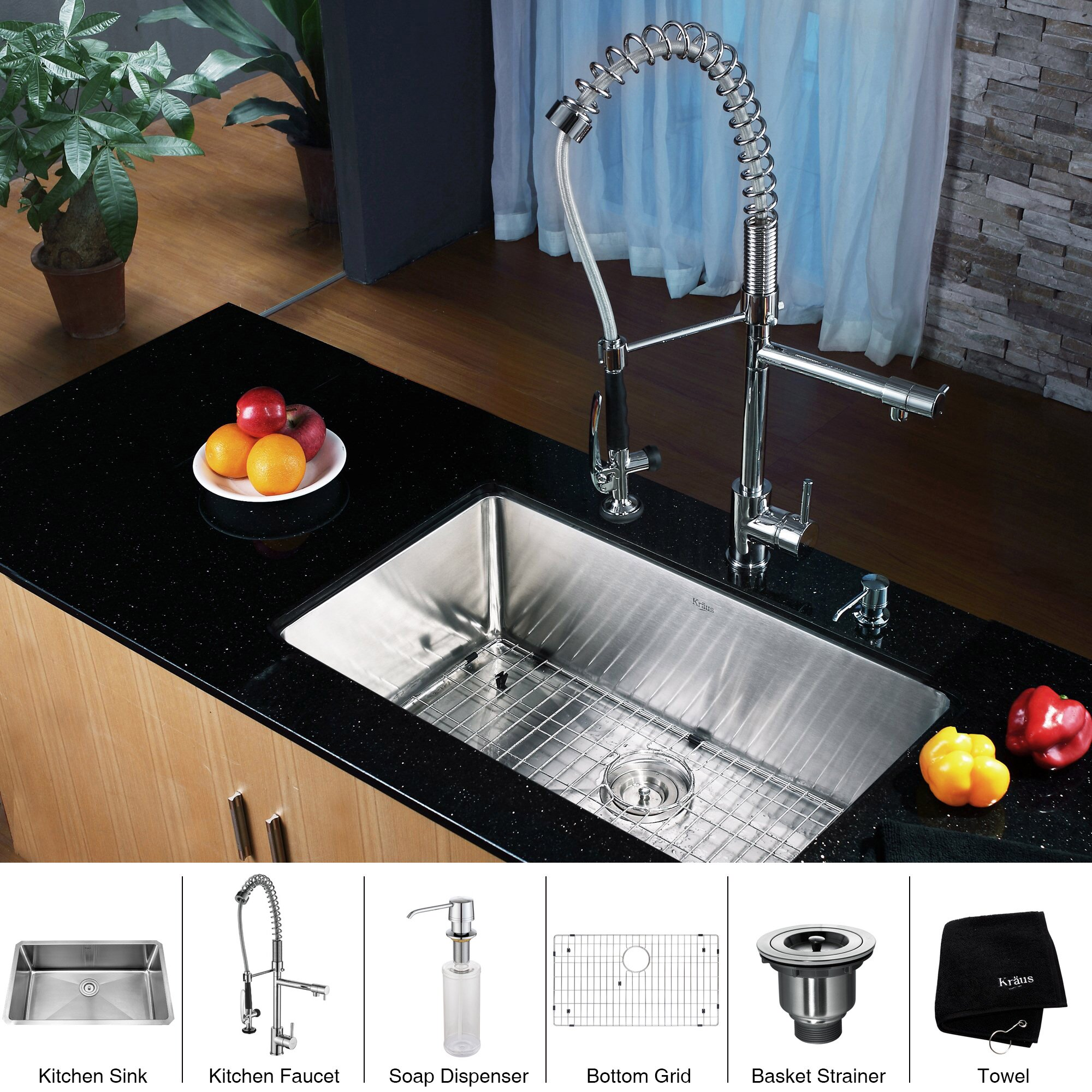 single bowl sinks for kitchens kraus 30 quot x 16 quot undermount single bowl kitchen sink with 7956