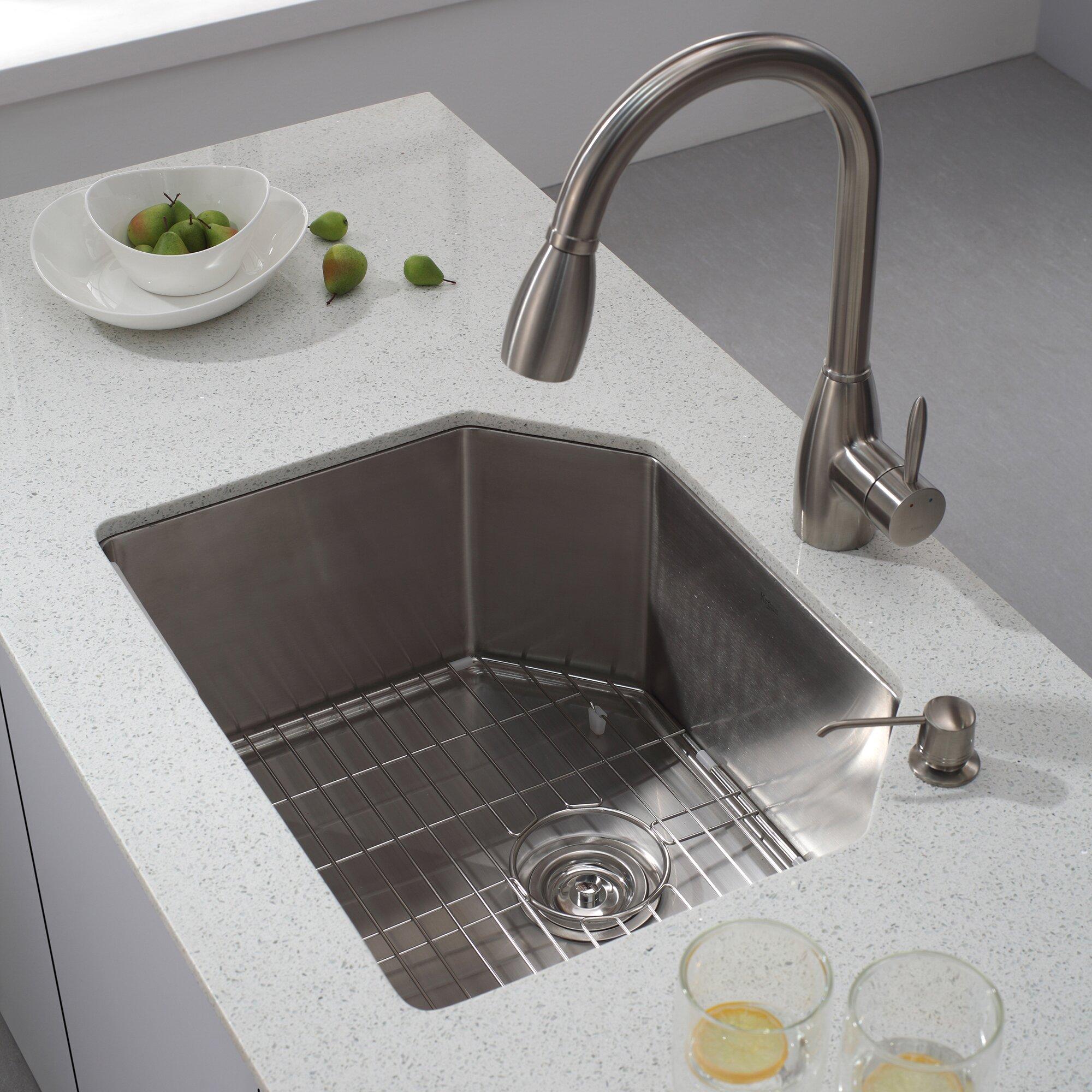 Kraus 23 Undermount Sink : Kraus 23.75
