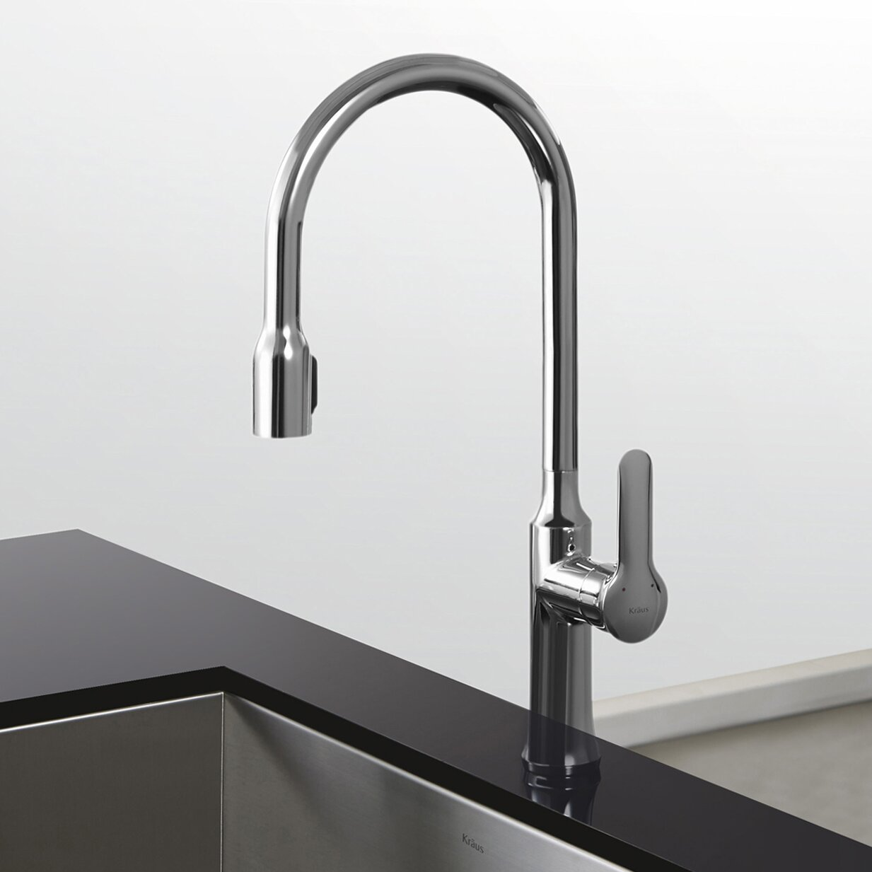 Kraus Faucets Reviews : Kraus Nola? Single Lever Concealed Pull Down Kitchen Faucet ...