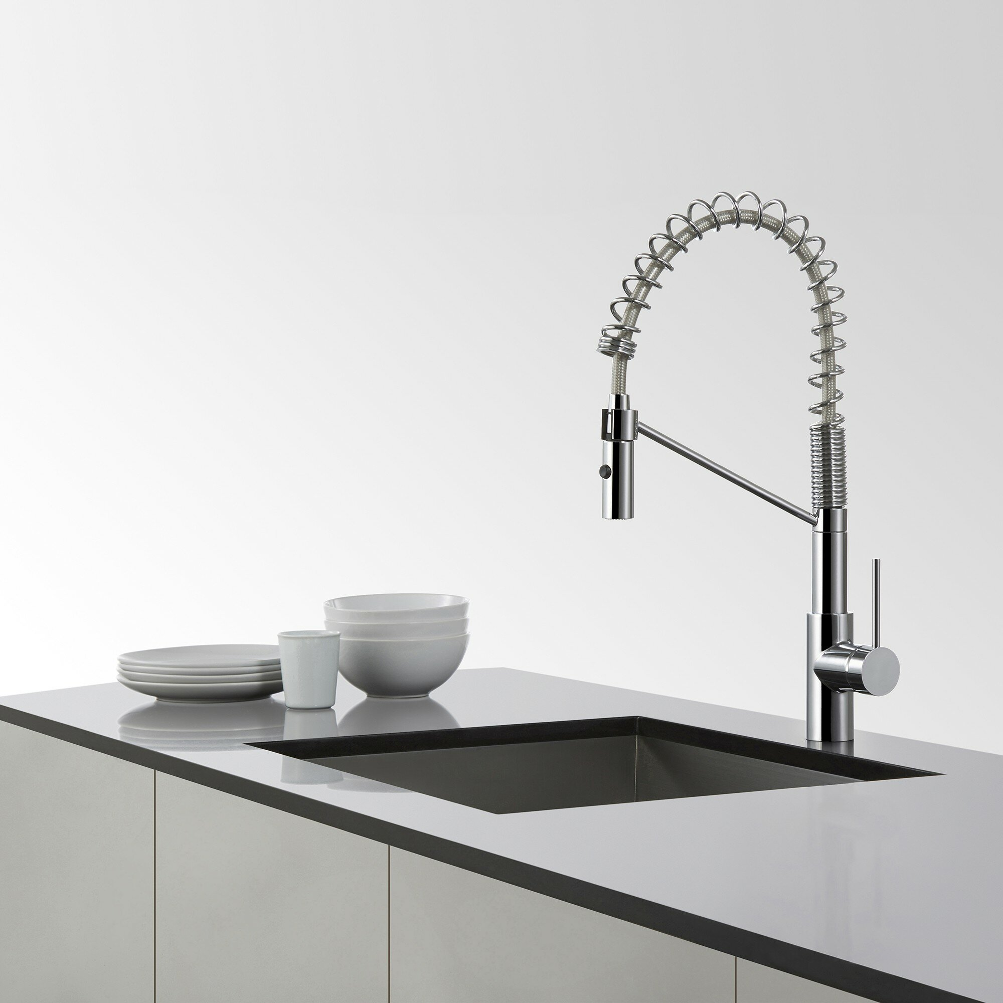 Industrial Style Kitchen Faucet: Kraus Oletto Commercial Style Kitchen Faucet W Bar/Prep