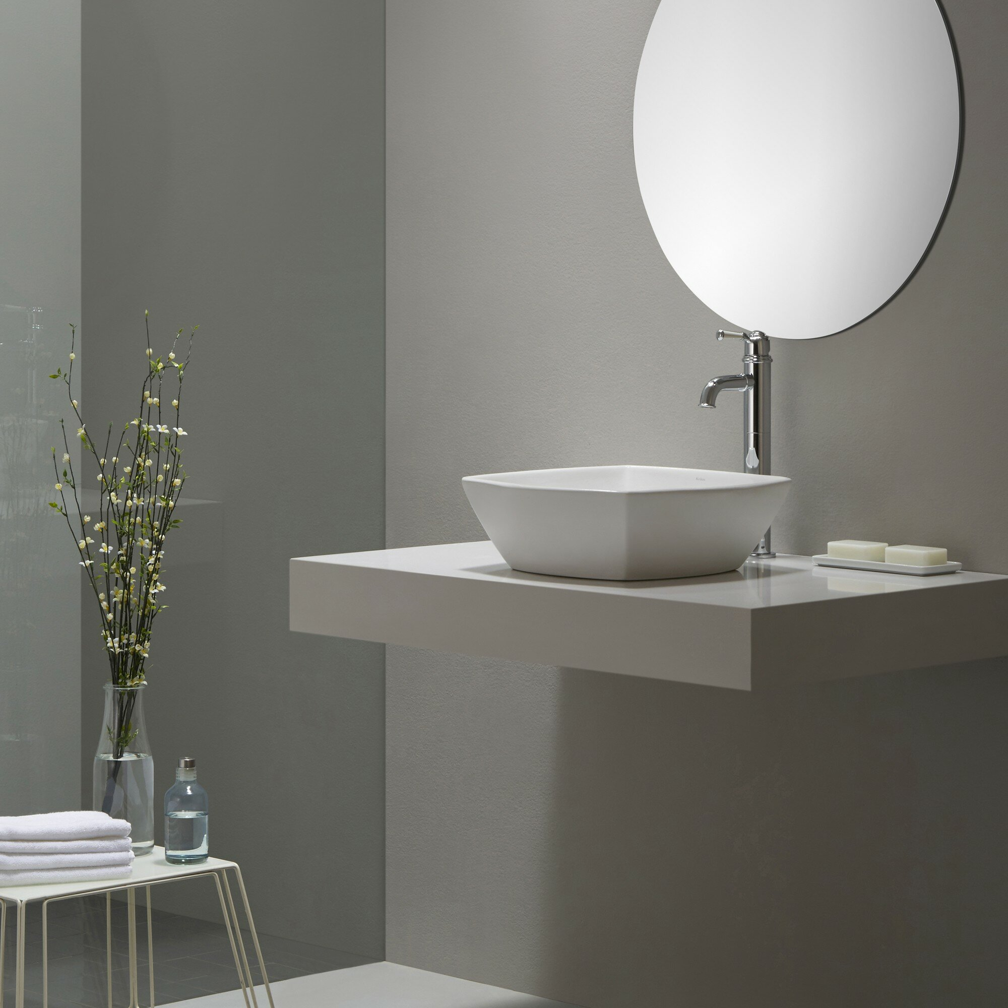Kraus Elavo? Ceramic Flared Square Vessel Bathroom Sink & Reviews ...