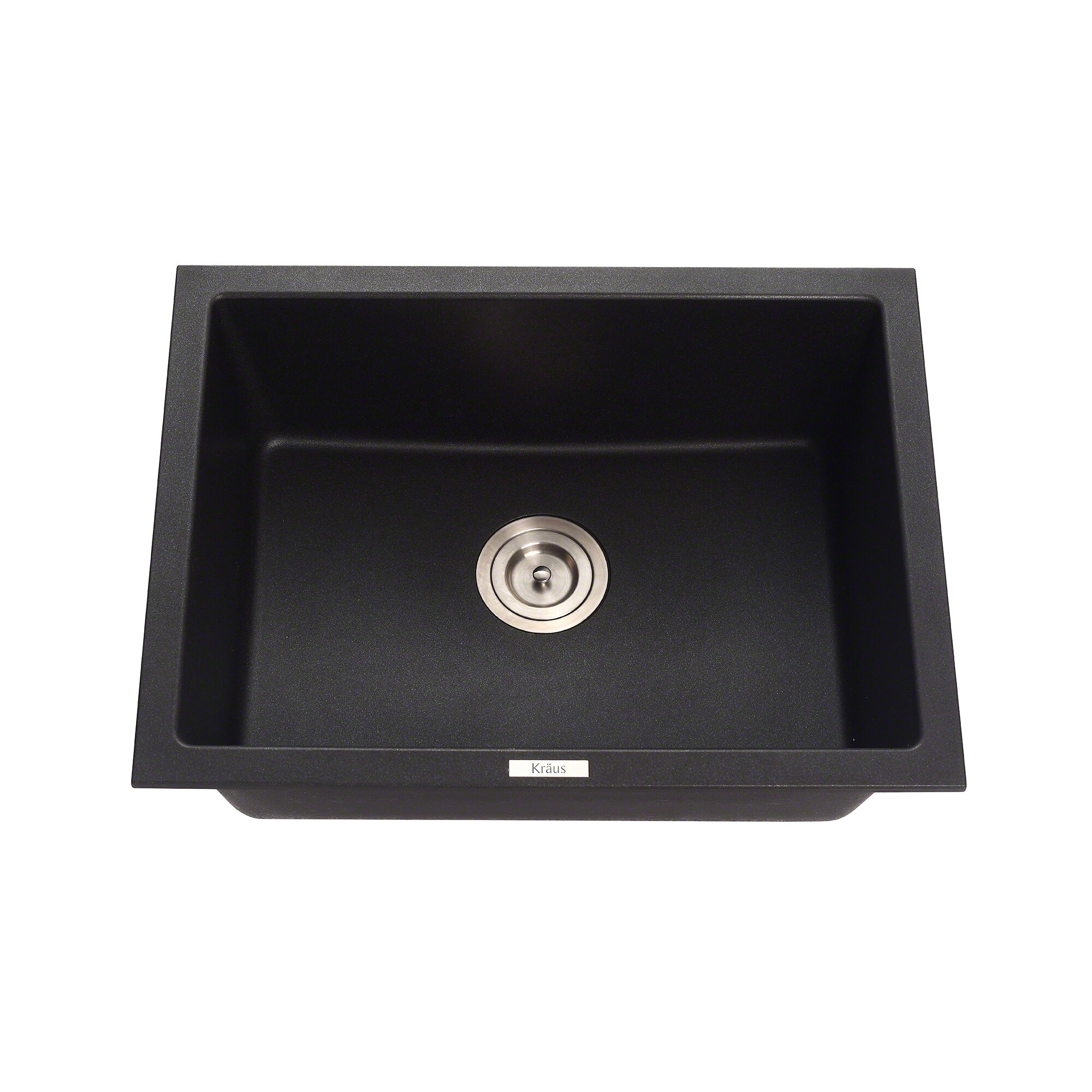 Granite Undermount Kitchen Sink Kraus Granite 24 X 18 Undermount Kitchen Sink Reviews Wayfair