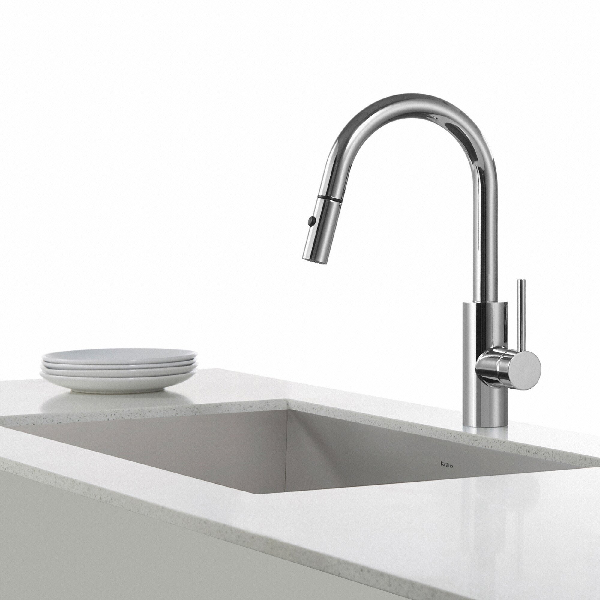 Kraus Faucets Reviews : Kraus Oletto? Single Lever Pull Down Kitchen Faucet & Reviews ...