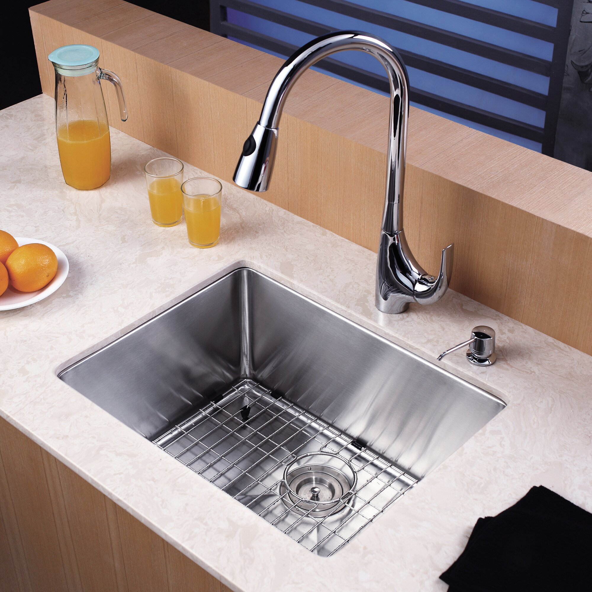 kraus kitchen sinks kraus 23 quot x 18 quot undermount kitchen sink amp reviews wayfair ca 3612