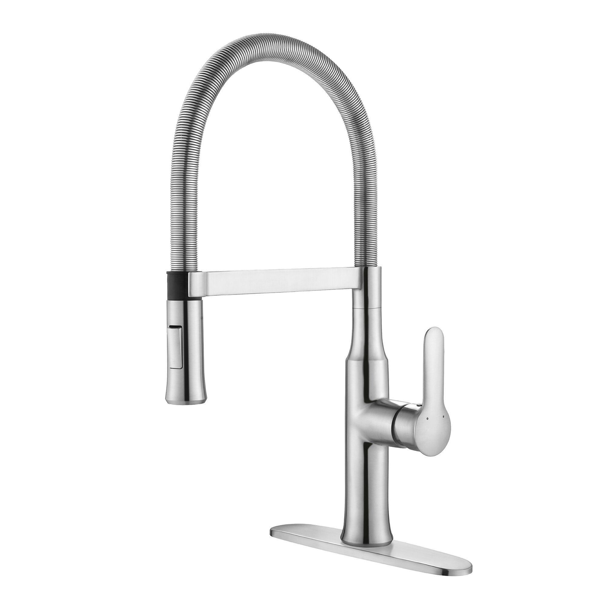 Kraus Nola Single Handle Kitchen Faucet with Dual-Function Sprayer ...