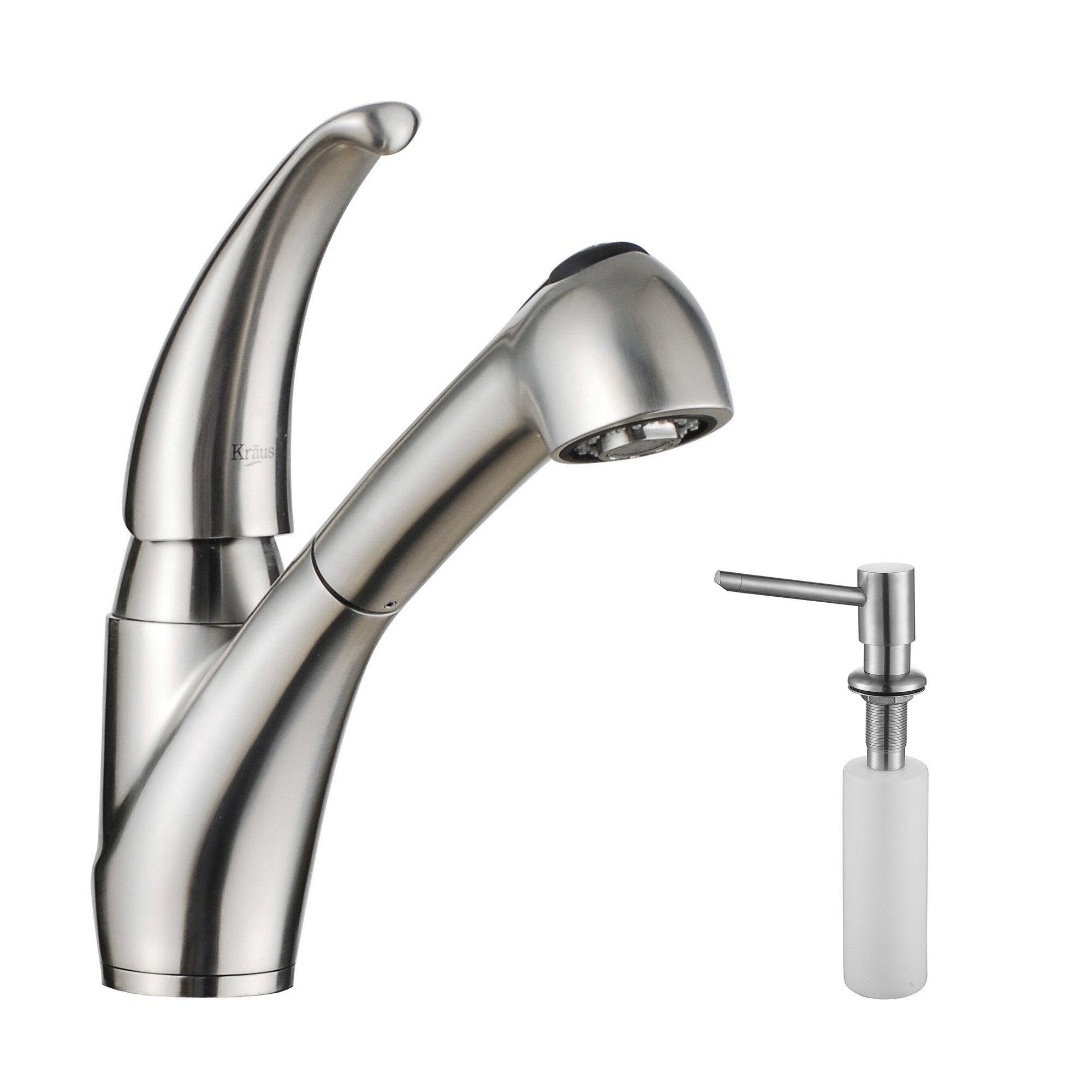 Kitchen Faucet Soap Dispenser Kraus Stainless Steel Pull Out Kitchen Faucet With Soap Dispenser