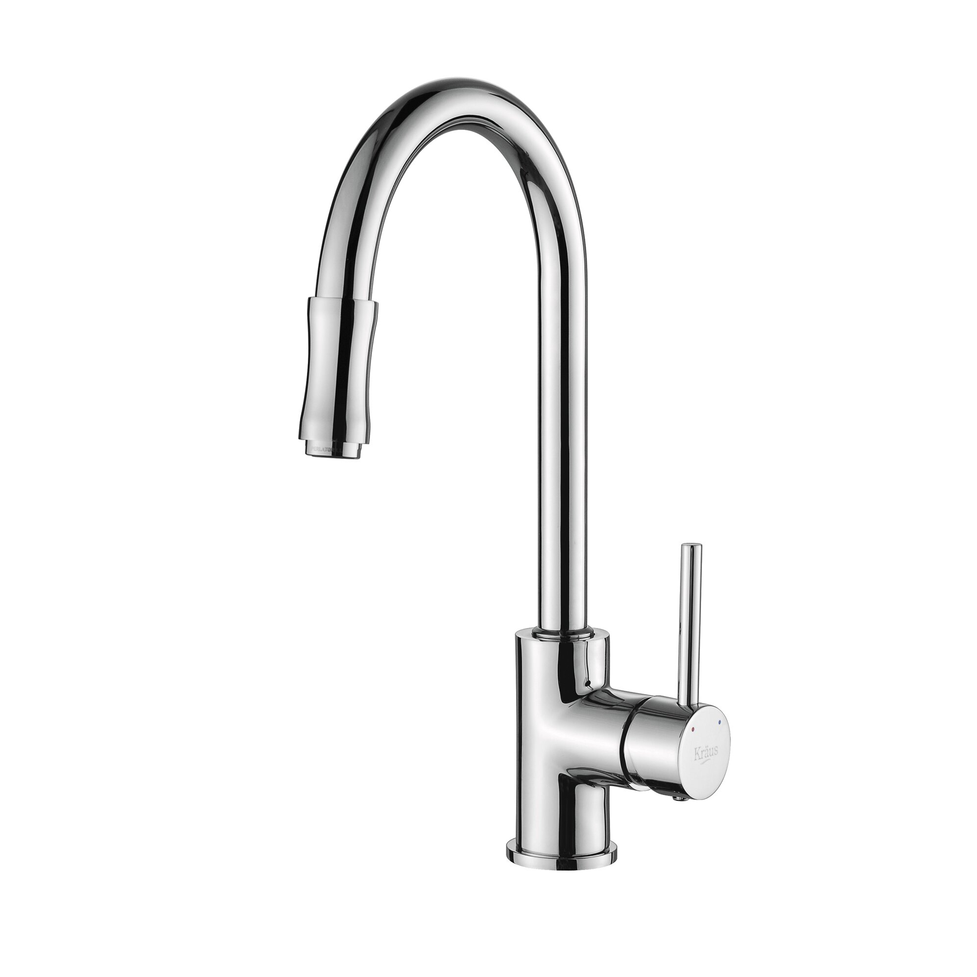 kraus single handle pull down kitchen faucet set with spray and