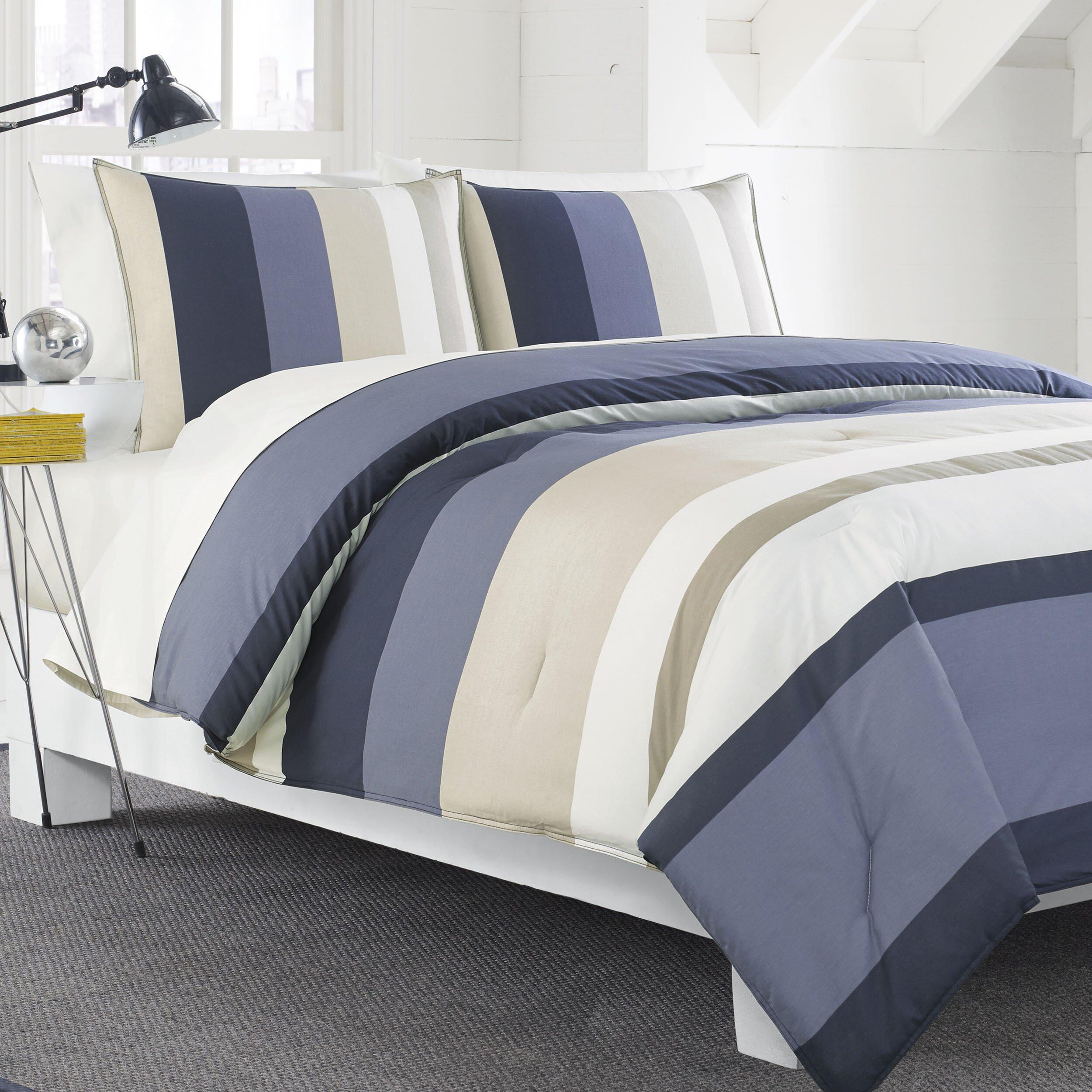 Nautica Bedroom Furniture Nautica 3 Piece Reversible Duvet Set Reviews Wayfair