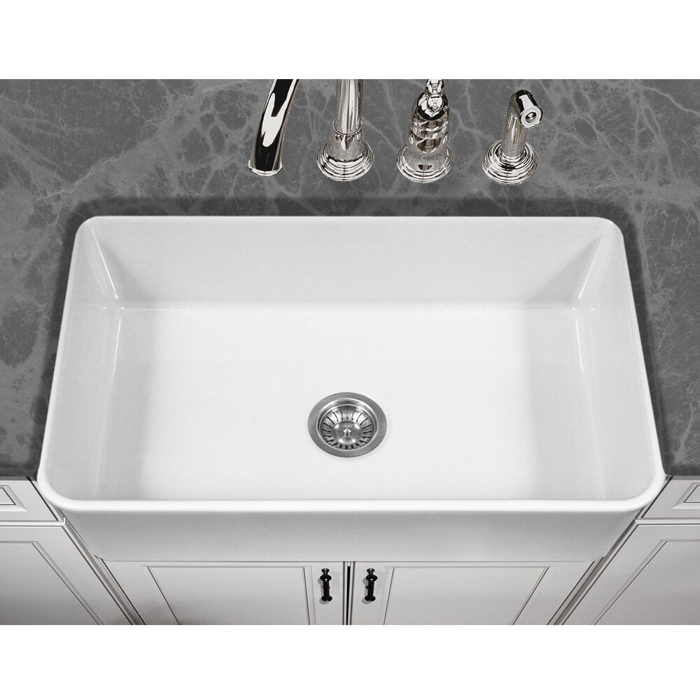 White Apron Kitchen Sink Houzer Platus 33 X 20 Apron Front Fire Clay Single Kitchen Sink