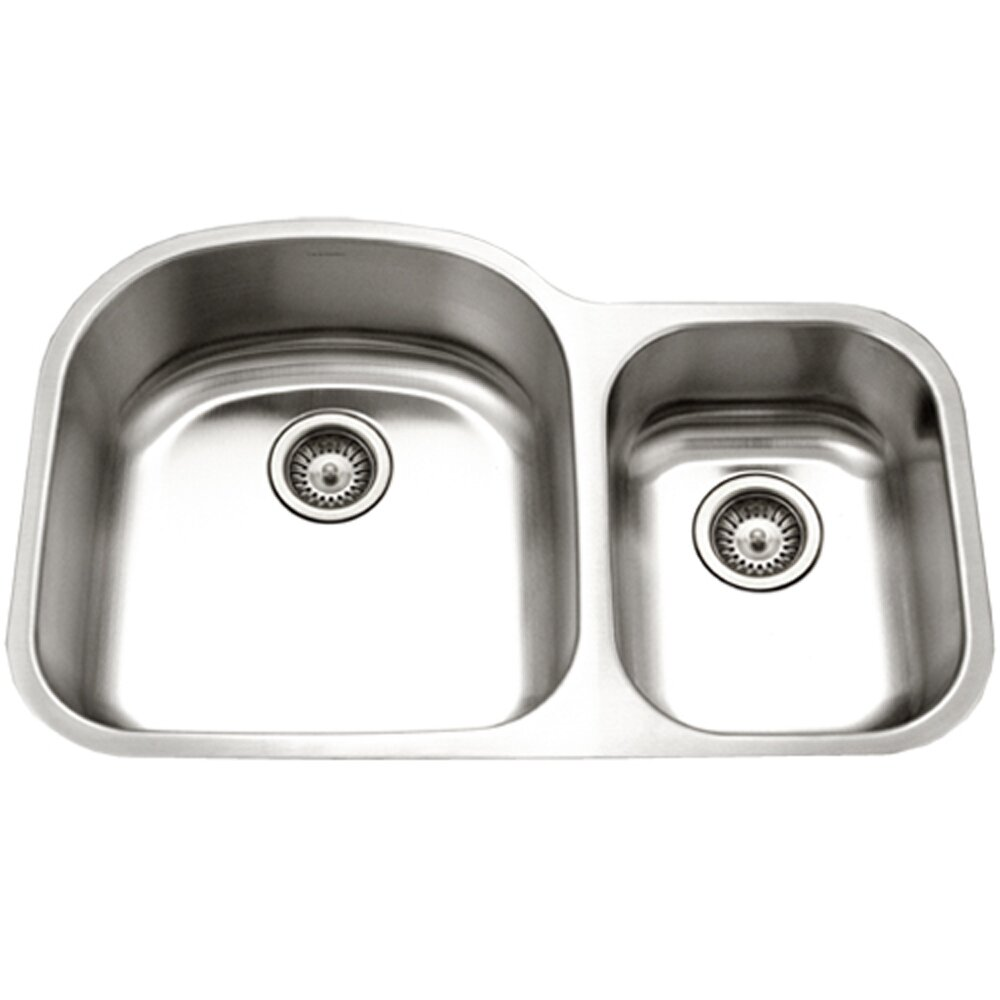 White Kitchen Sink Undermount Houzer Eston 3219 X 205 Undermount 70 30 Double Bowl Kitchen