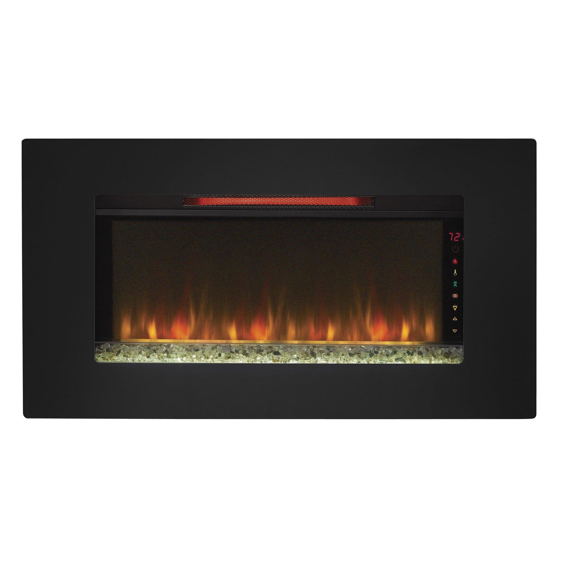 Classic Flame Elysium Wall Mount Electric Fireplace Reviews Wayfair