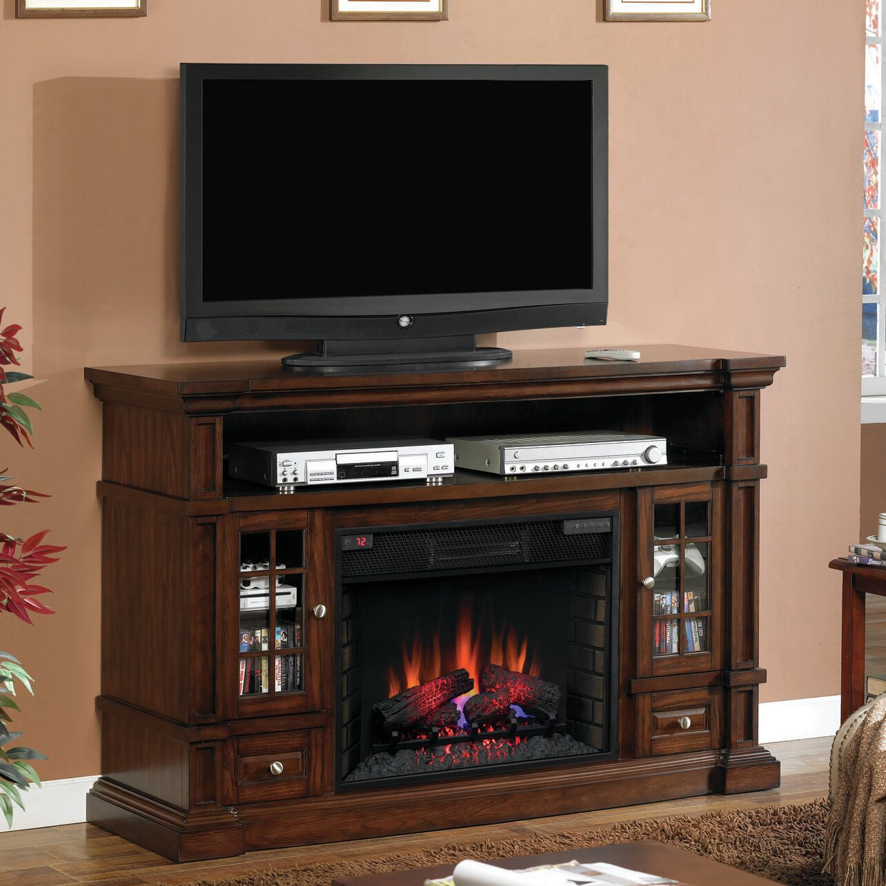 Classic Flame Belmont Electric Fireplace - Classic Flame Belmont Electric Fireplace & Reviews Wayfair